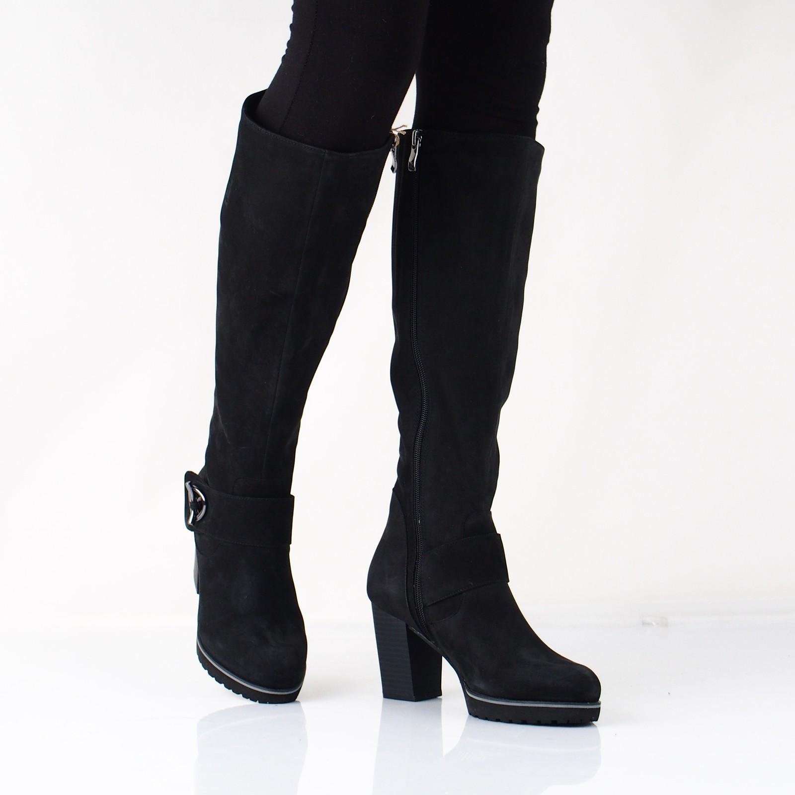 d92e138986 Caprice dámske nubukové vysoké čižmy - čierne ...