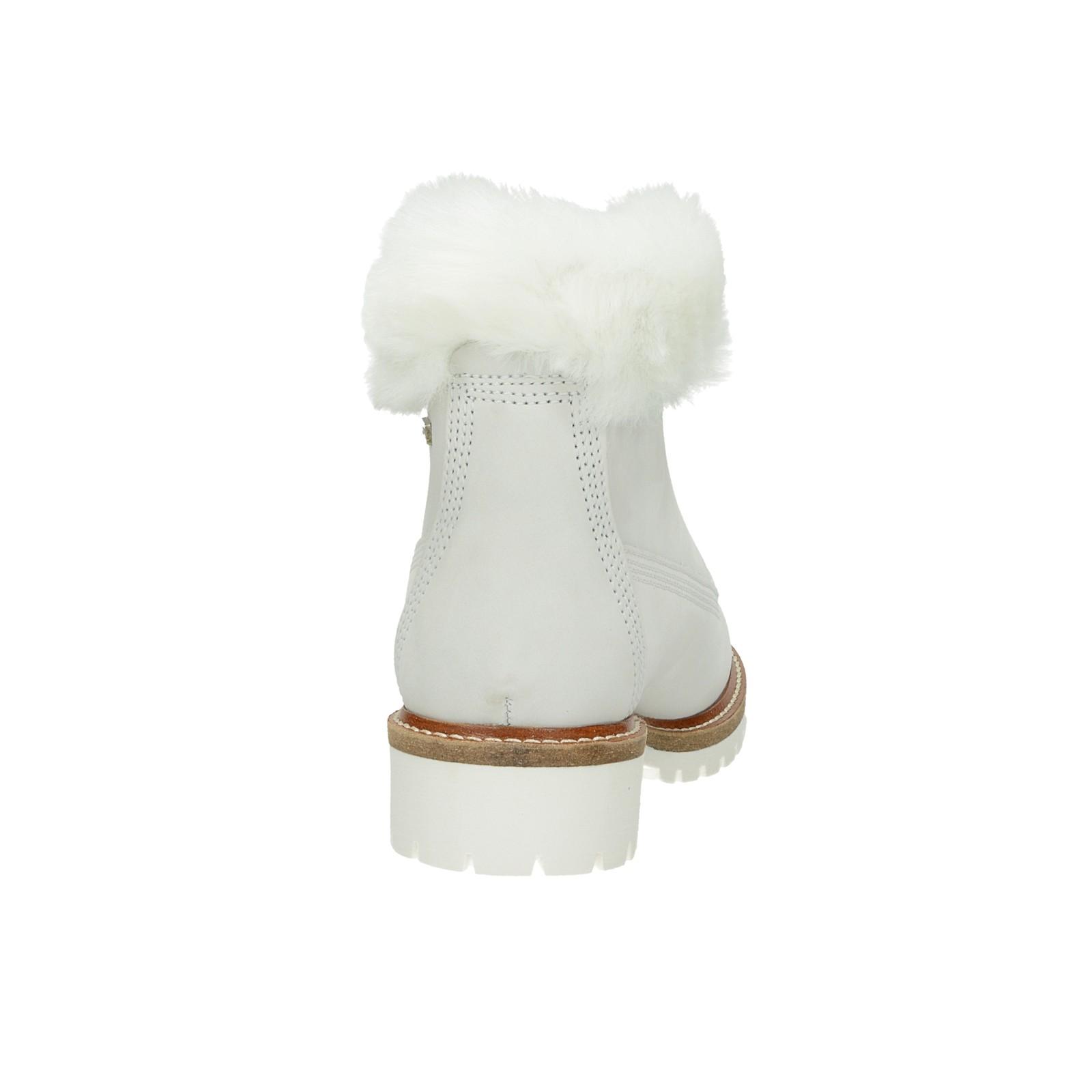 e6740163f0 ... Tamaris dámske štýlové nízke čižmy - biele ...