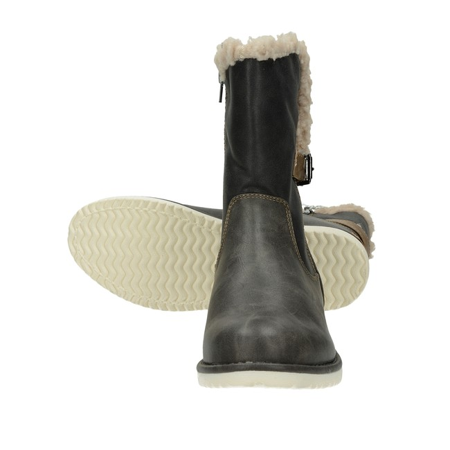 Canadians dámske zateplené čižmy - šedé ... 6f860a0f47f