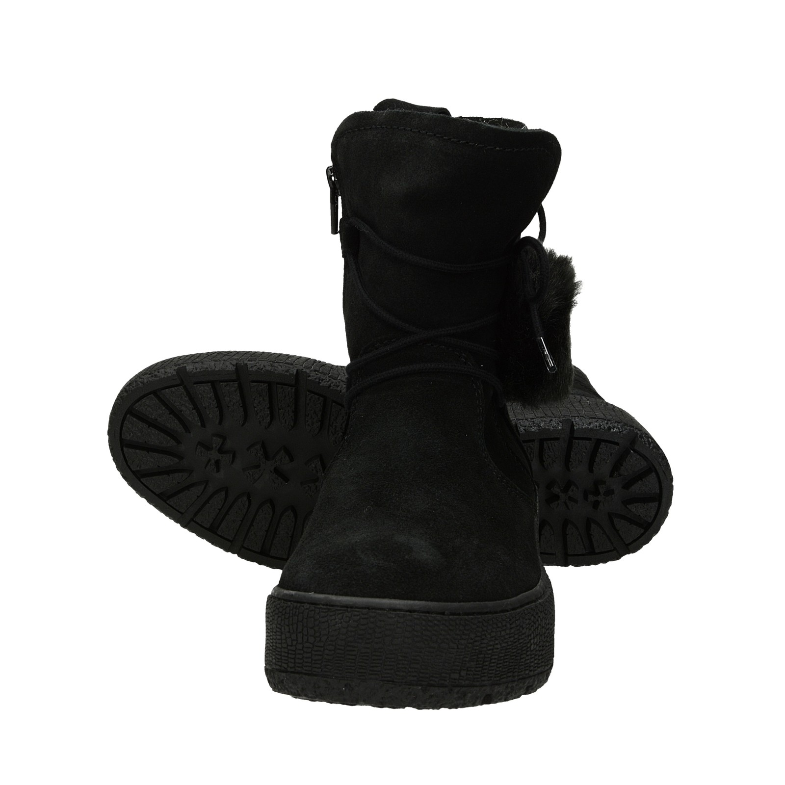 Tamaris dámske semišové nízke čižmy - čierne ... 2384bece1d6