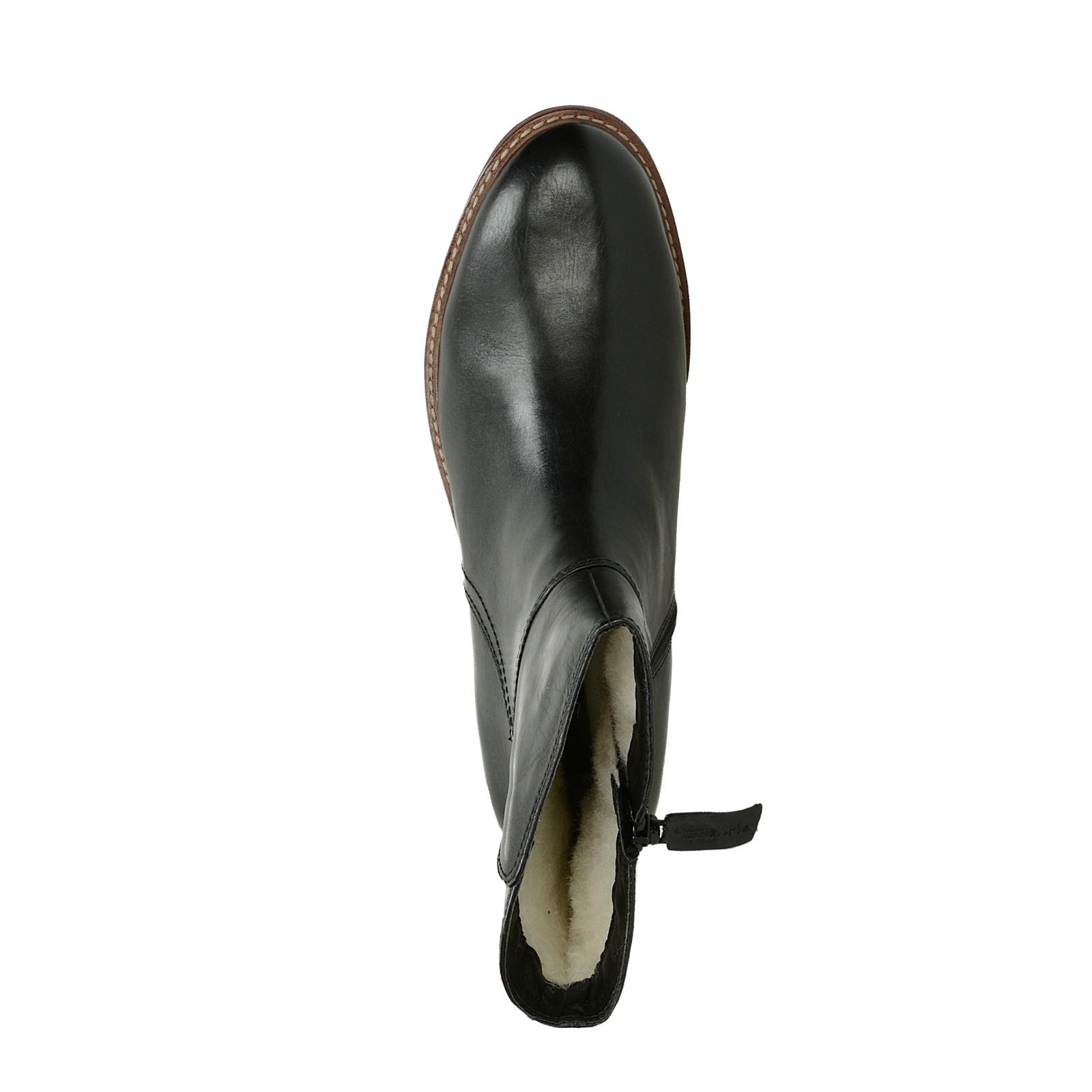 Tamaris dámske kožené nízke zateplené čižmy - čierne ... fe6f2a3e3a1