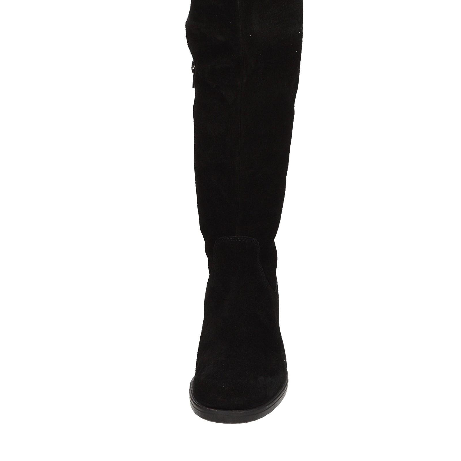 5803cc4ec6 Tamaris dámske semišové vysoké čižmy - čierne ...