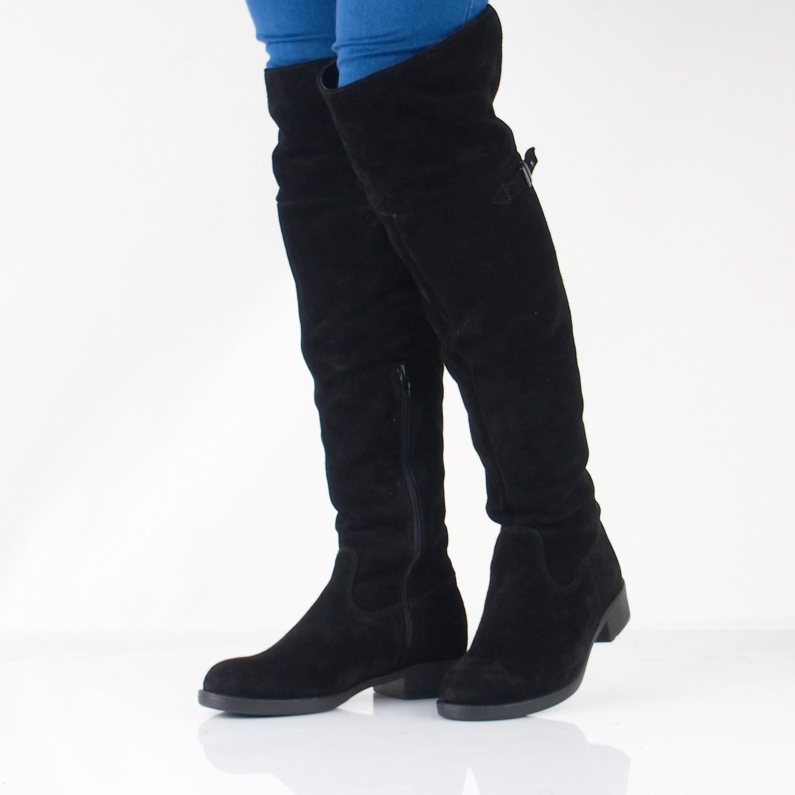 3e1eb00c033dc Tamaris dámske semišové vysoké čižmy - čierne | 2681121-BLK www.robel.sk