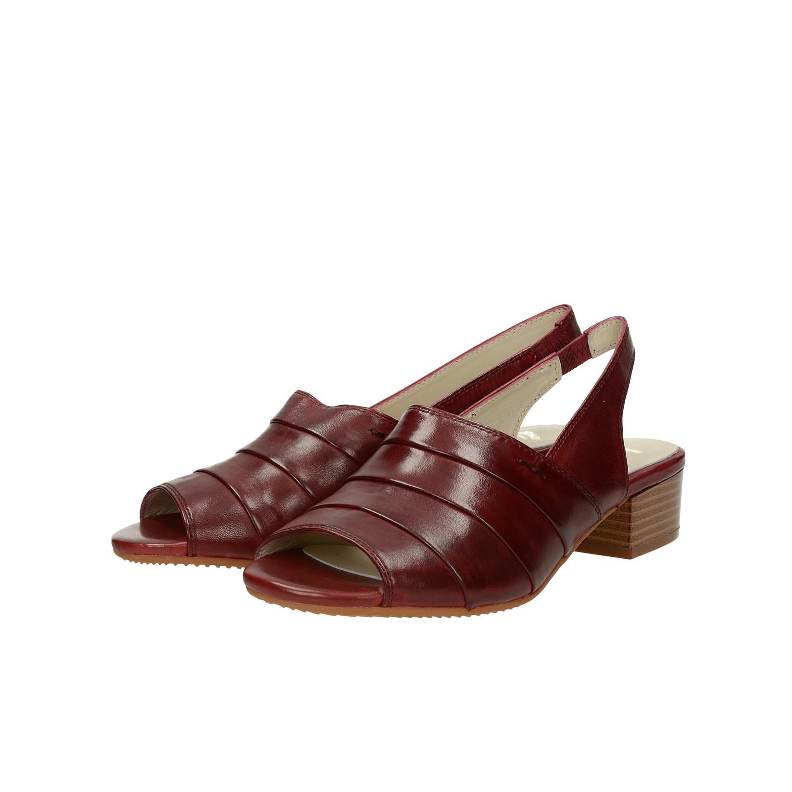 85e71d56b9f7 ... Canal Grande dámske kožené sandále - bordové ...