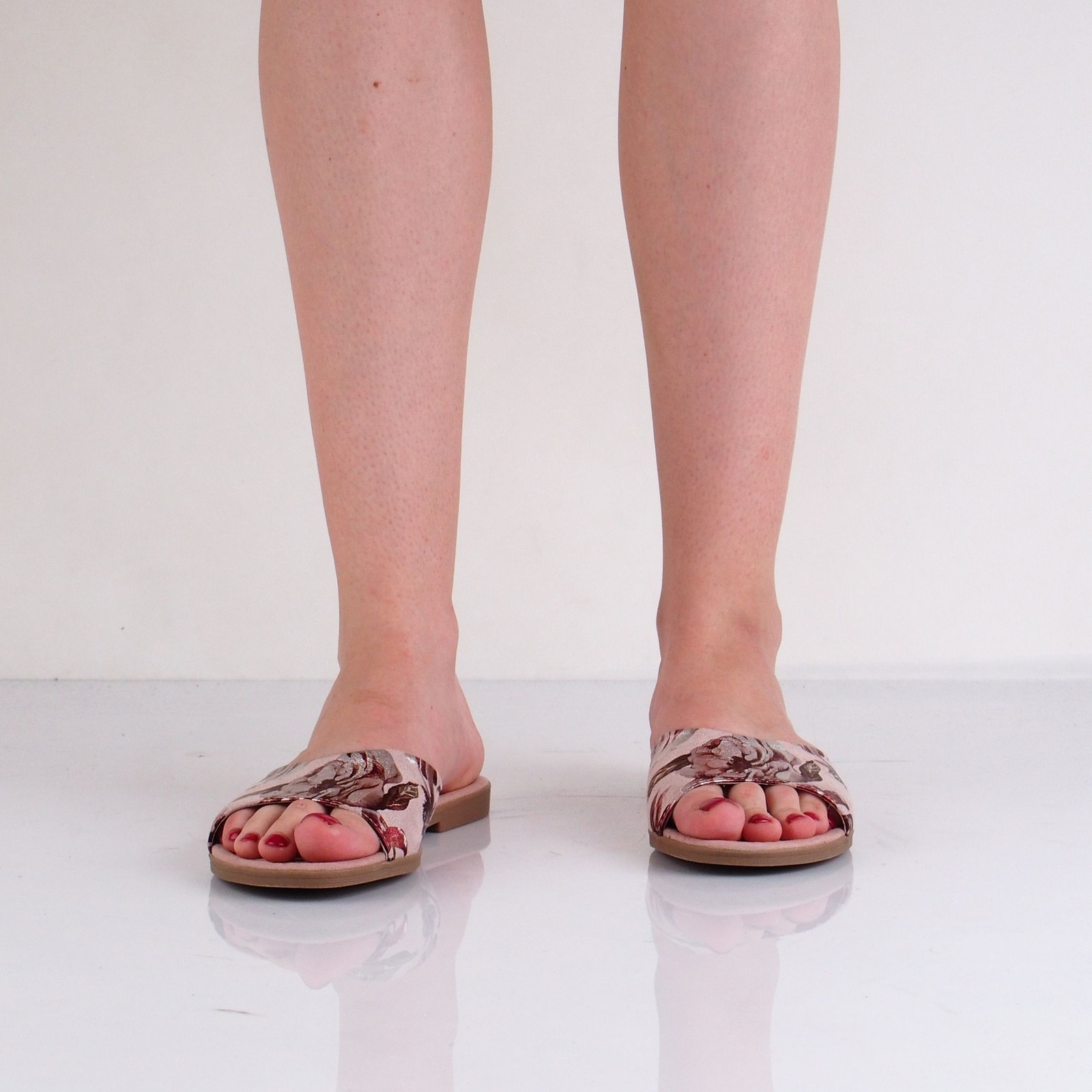 Marco Tozzi dámske štýlové šľapky - ružové