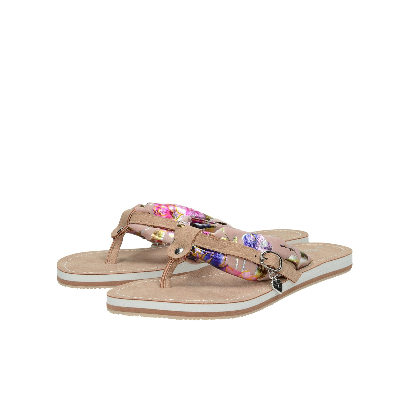 Tamaris dámske štýlové plážovky - ružové