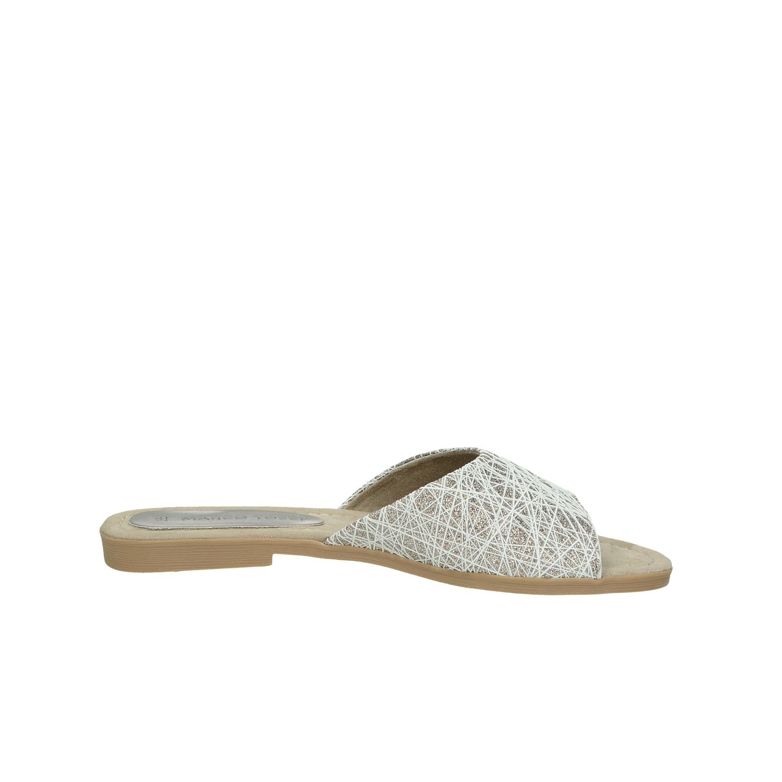 Marco Tozzi dámske štýlové šľapky - biele
