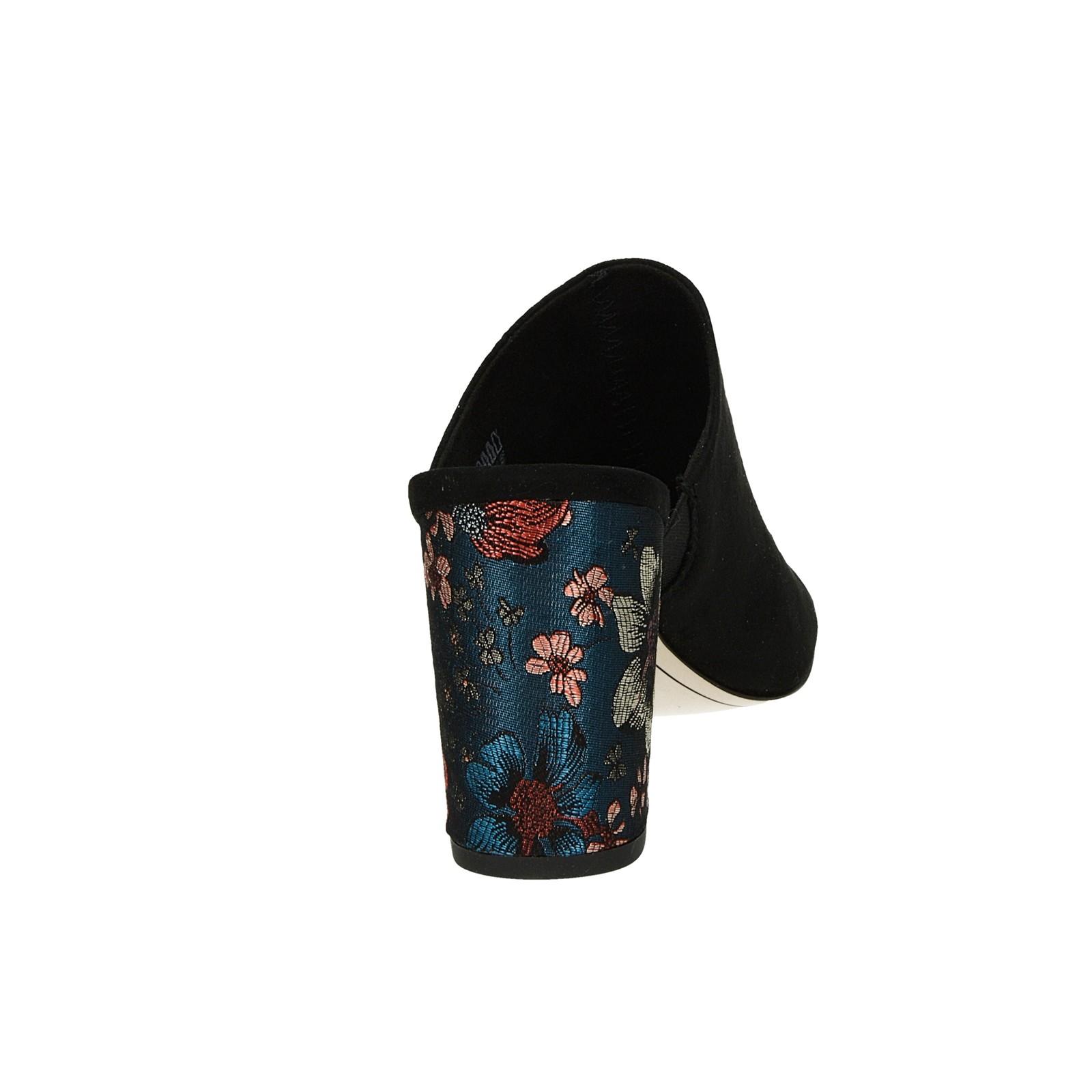 2a54cd9c2a ... Tamaris dámske štýlové šľapky na vysokom podpätku - čierne ...