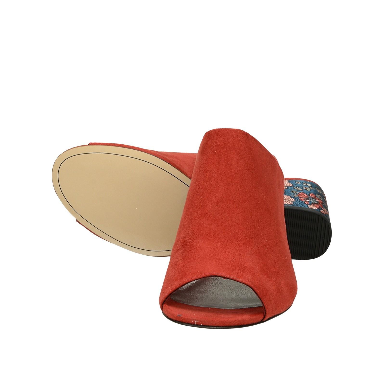 0000f291f ... Tamaris dámske pohodlné šľapky na vysokom podpätku - červené ...