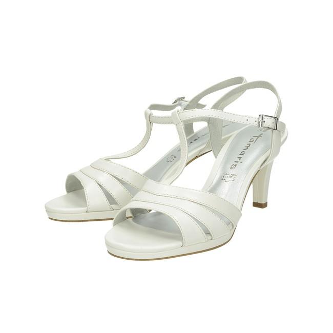 304cbff7335b ... Tamaris dámske sandále na platforme - biele ...