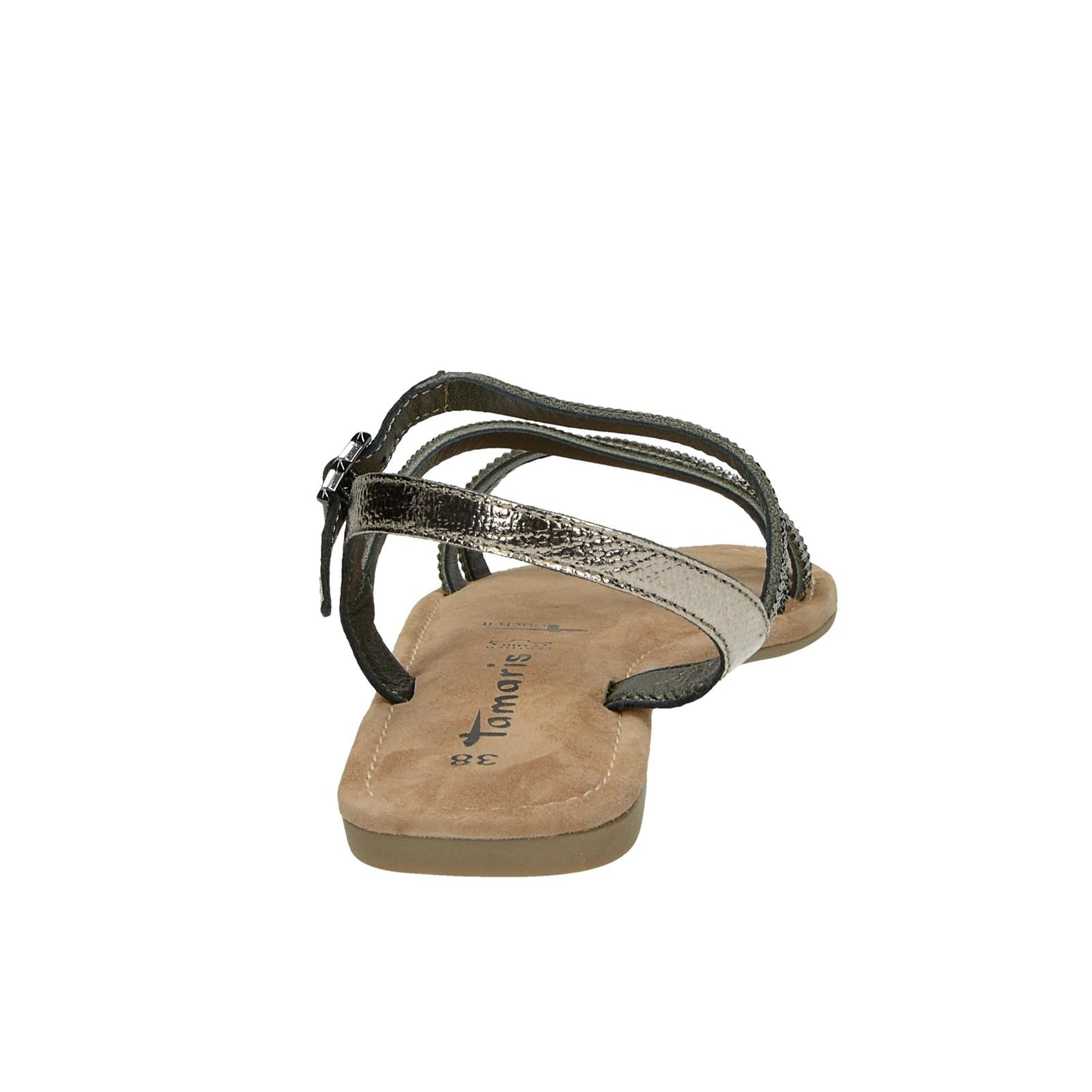 f389ccd70bc2 ... Tamaris dámske elegantné sandále s ozdobnými kamienkami - tmavošedé ...