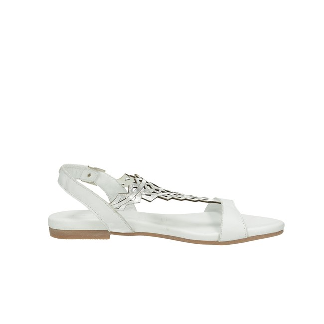Tamaris dámske elegantné sandále na suchý zips - biele ... da7b171521f