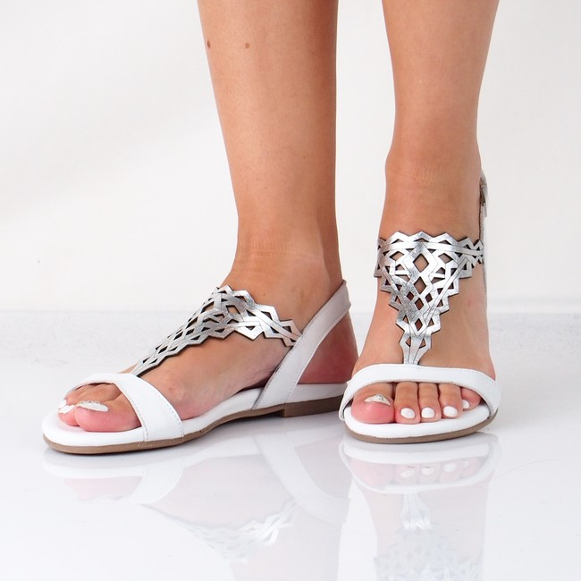 c4b9d7ab0370 Tamaris dámske elegantné sandále na suchý zips - biele ...