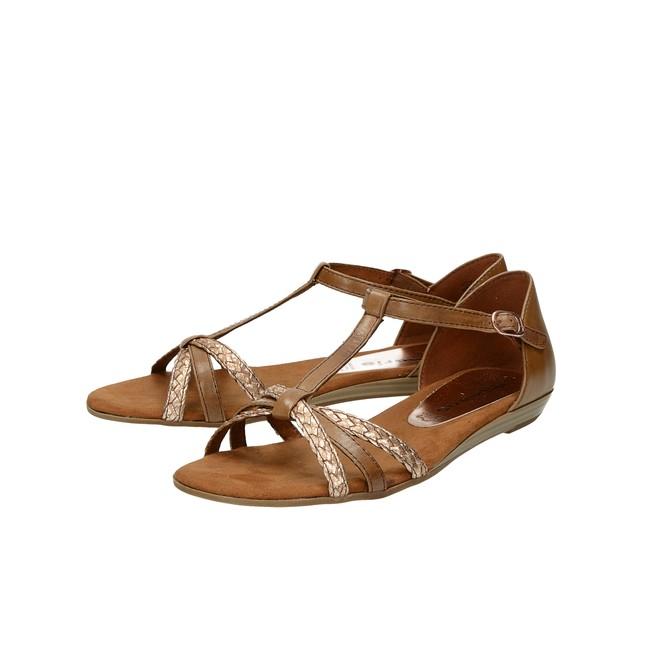 7f31904daf66 ... Tamaris dámske pohodlné sandále - hnedé ...