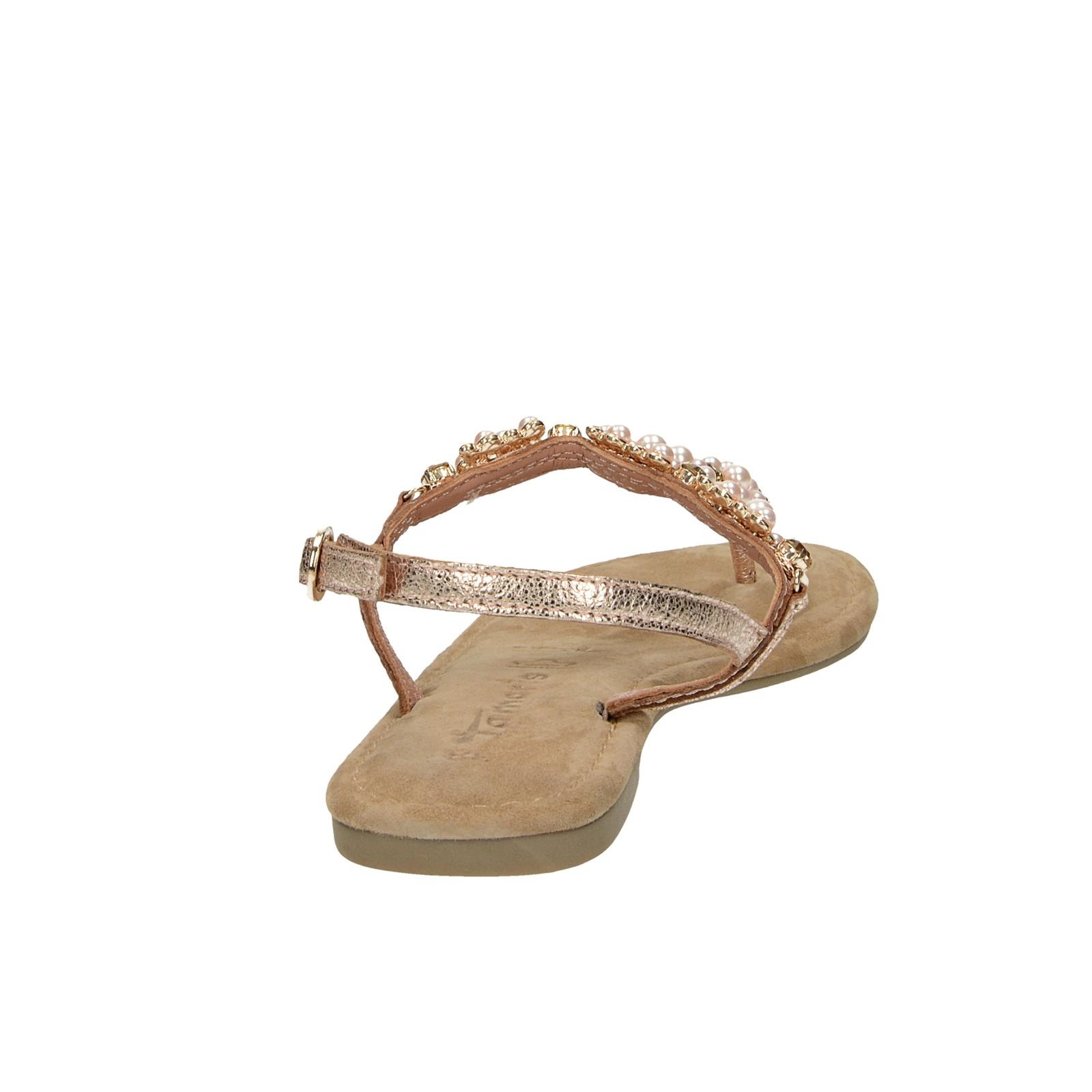bdefc68c745f ... Tamaris dámske elegantné sandále s ozdobnými prvkami - ružové ...