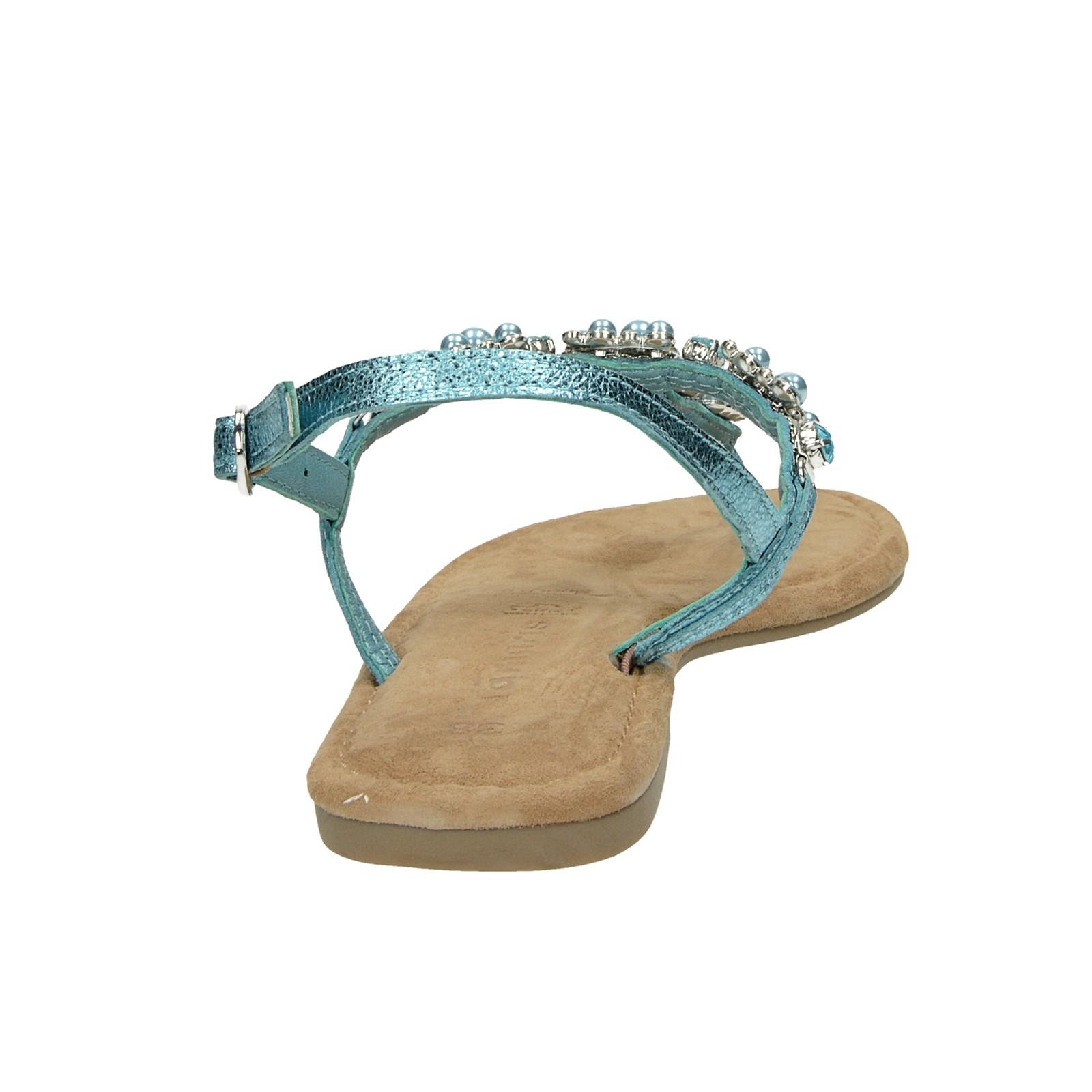 Tamaris dámske elegantné sandále s ozdobnými prvkami - zelené