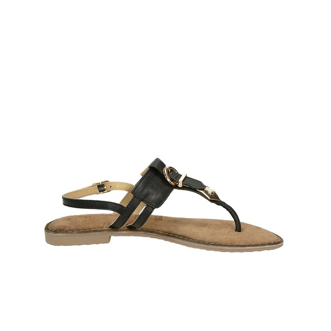 Tamaris dámske kožené sandále s remienkom - čierne ... 4fa658bb070