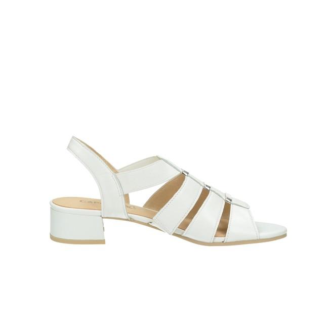 Caprice dámske kožené sandále - biele ... 6e8b03a59fc