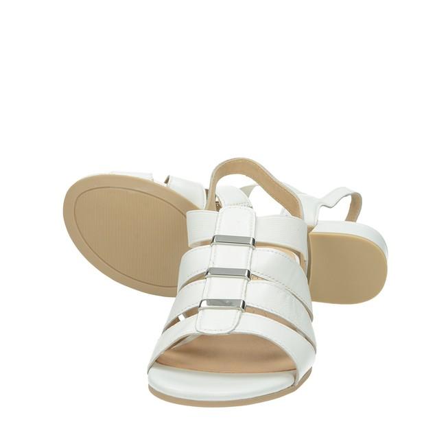 ... Caprice dámske kožené sandále - biele ... e56f730e4b7