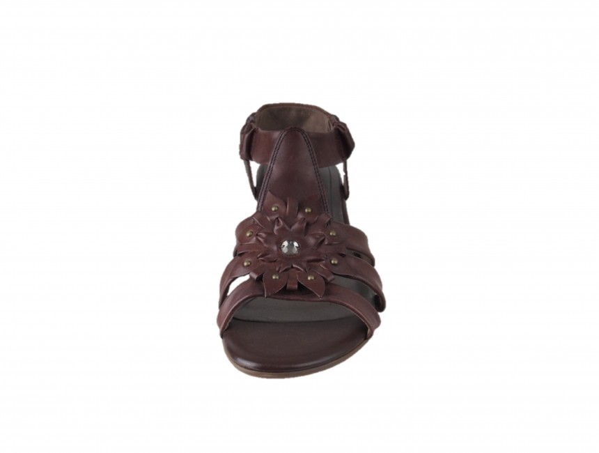 b3dc6ced92 ... Tamaris dámske kožené sandále - hnedé ...