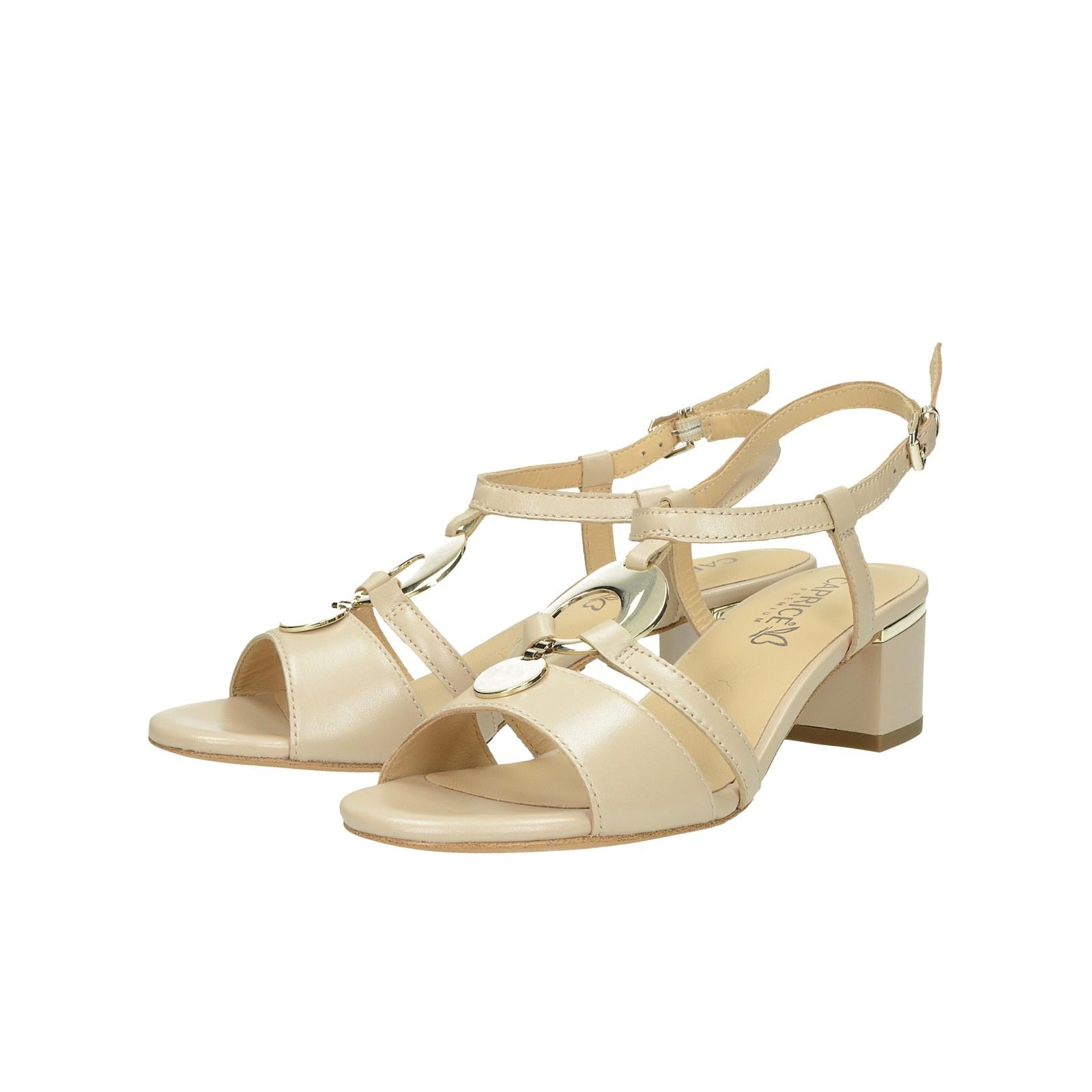 c43547281 Caprice dámske kožené štýlové sandále - béžové   2821122-BEI www ...