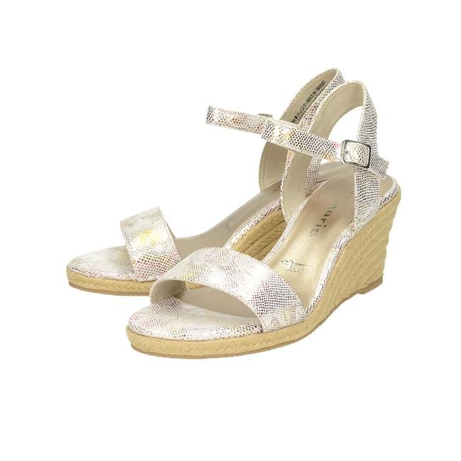 3fc50152562b ... Tamaris dámske štýlové sandále na klinovej podrážke - ružové ...