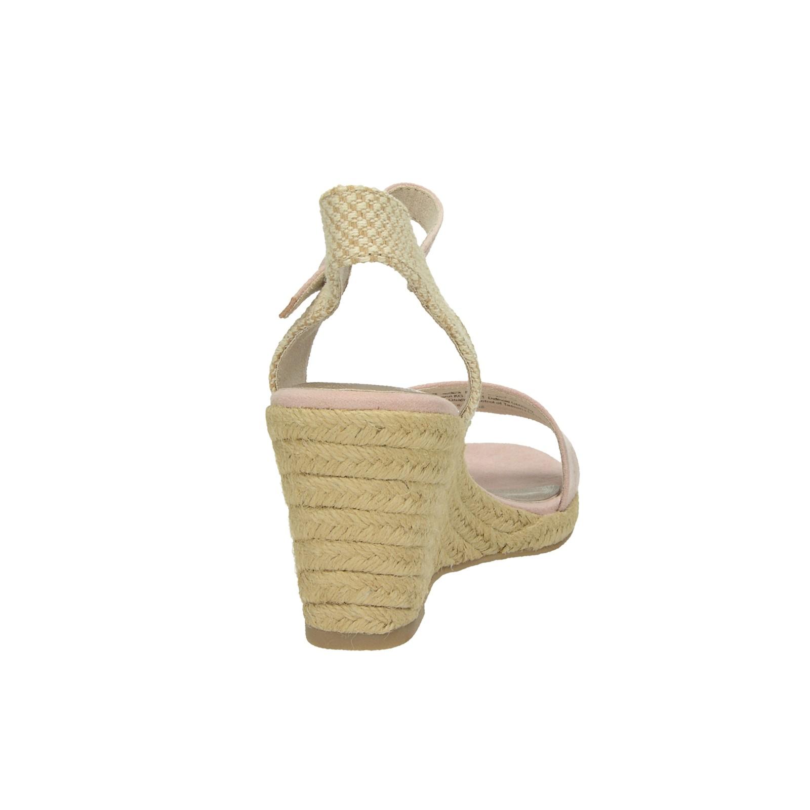 87cef2c21b6fe ... Tamaris dámske štýlové sandále na klinovej podrážke - ružové ...