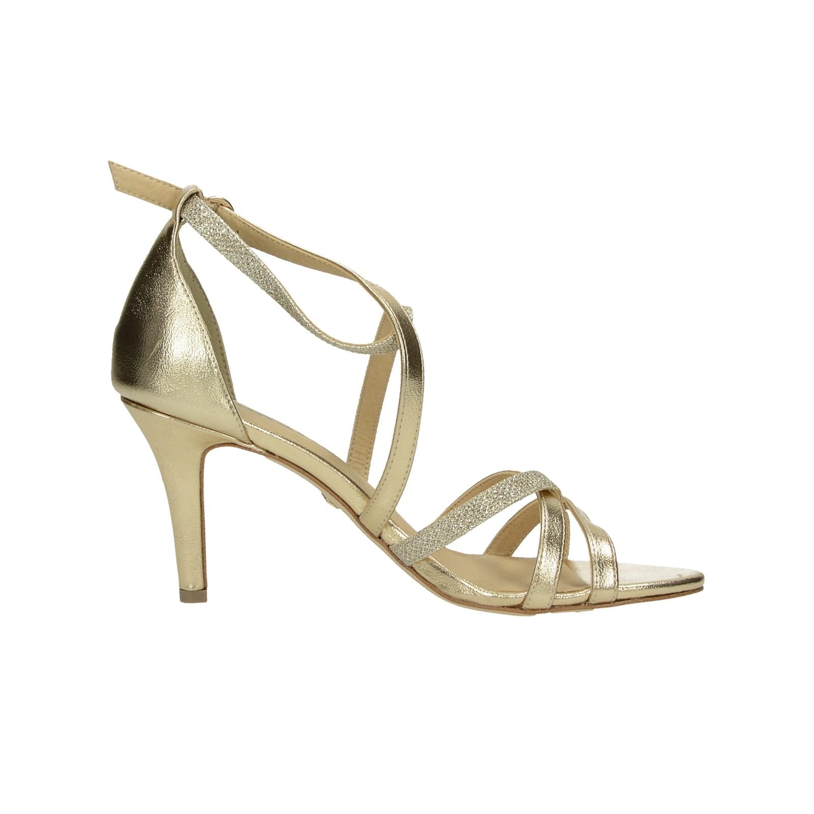 b5b1c8b849bb ... Tamaris dámske spoločenské sandále na podpätku - zlaté ...