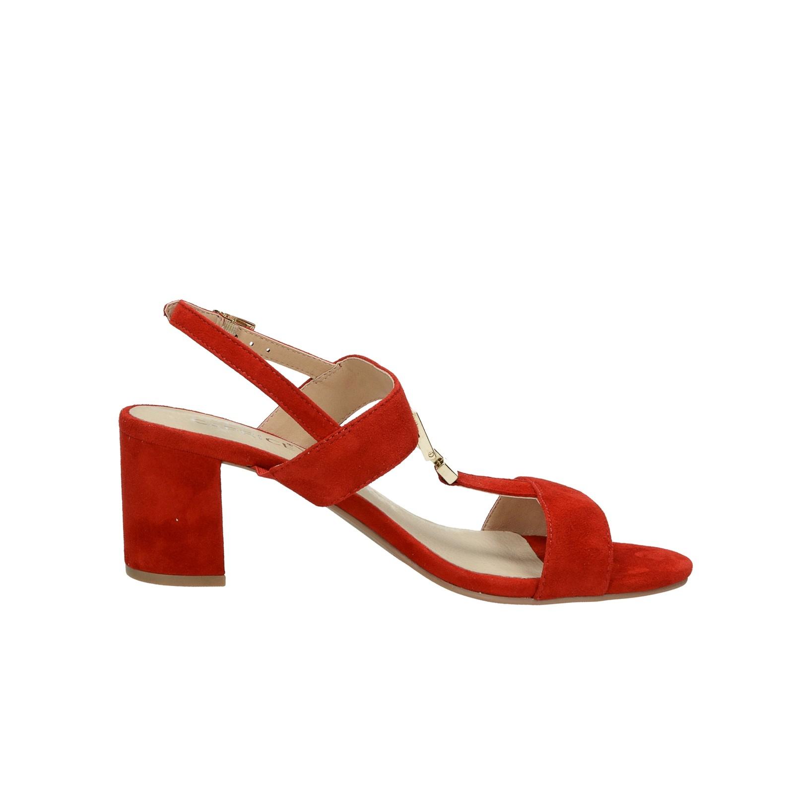 6e83bf603c ... Caprice dámske semišové sandále - červené ...
