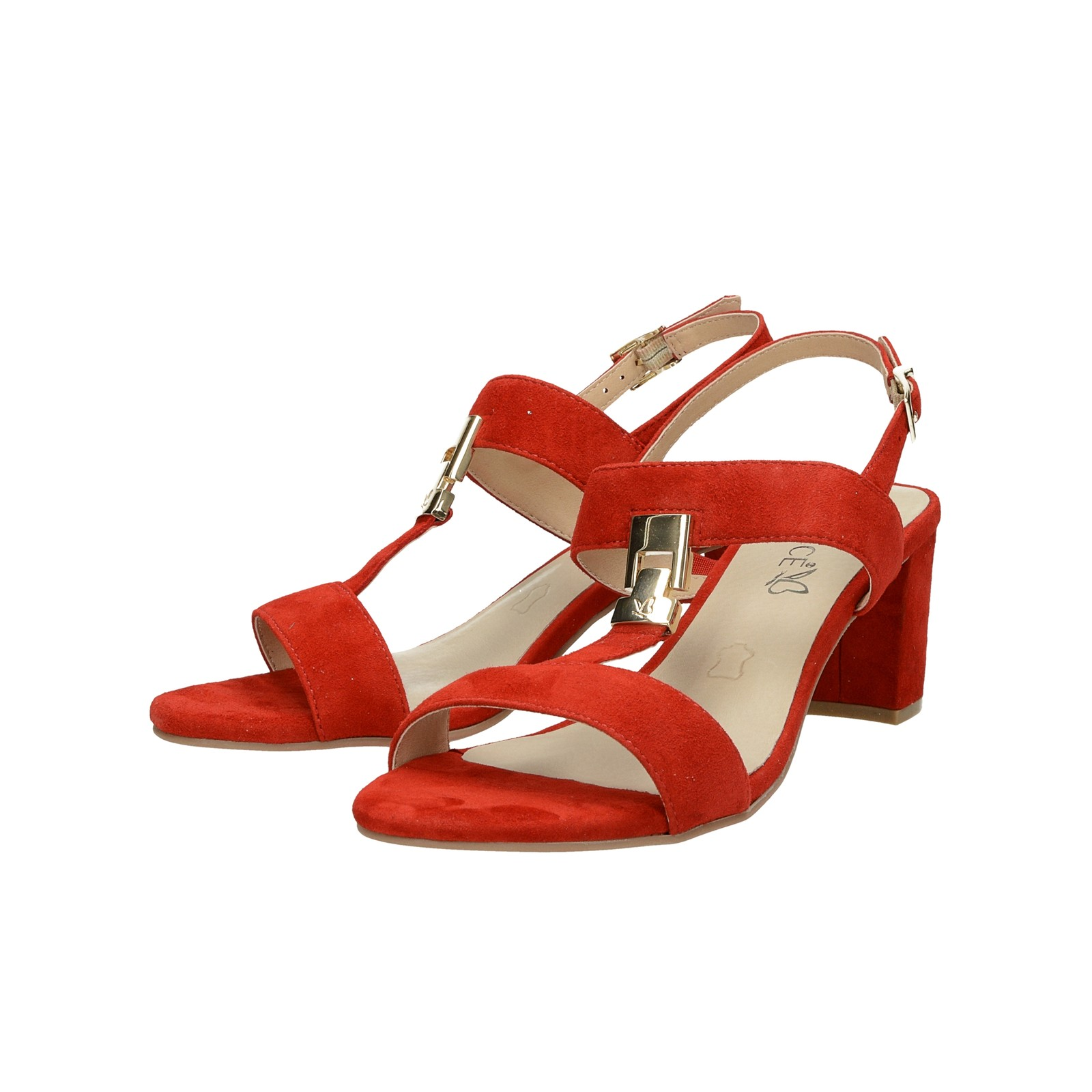 d639206954 Caprice dámske semišové sandále - červené ...