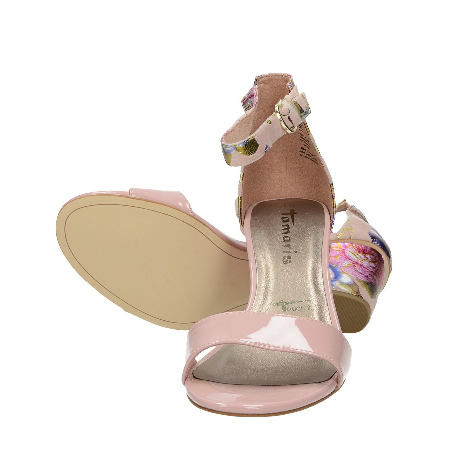 b0499a4d0280 ... Tamaris dámske štýlové kvetinové sandále - ružové ...