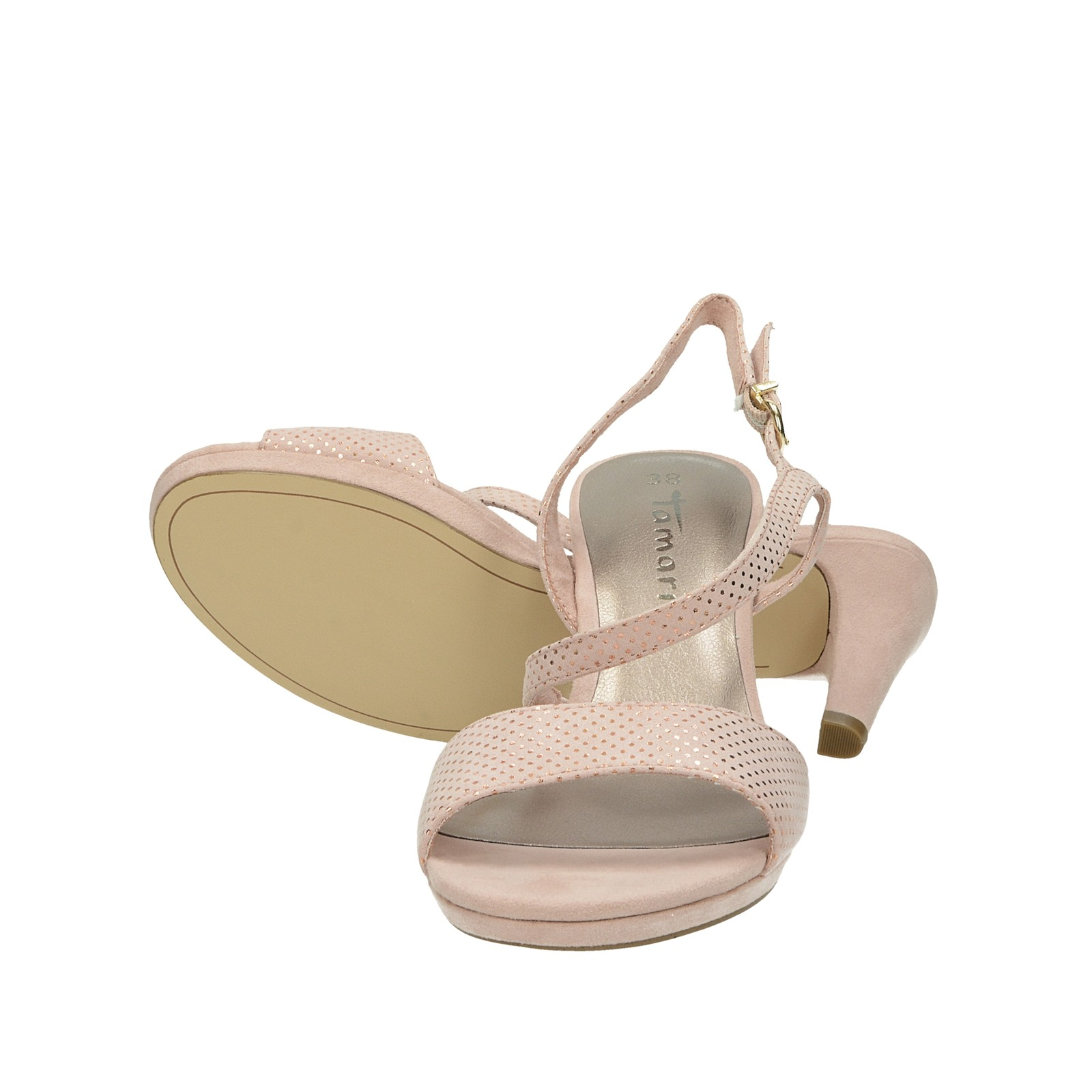 cb6c5f3fa Tamaris dámske sandále s remienkom - ružové   2831822-ROSEdots www ...