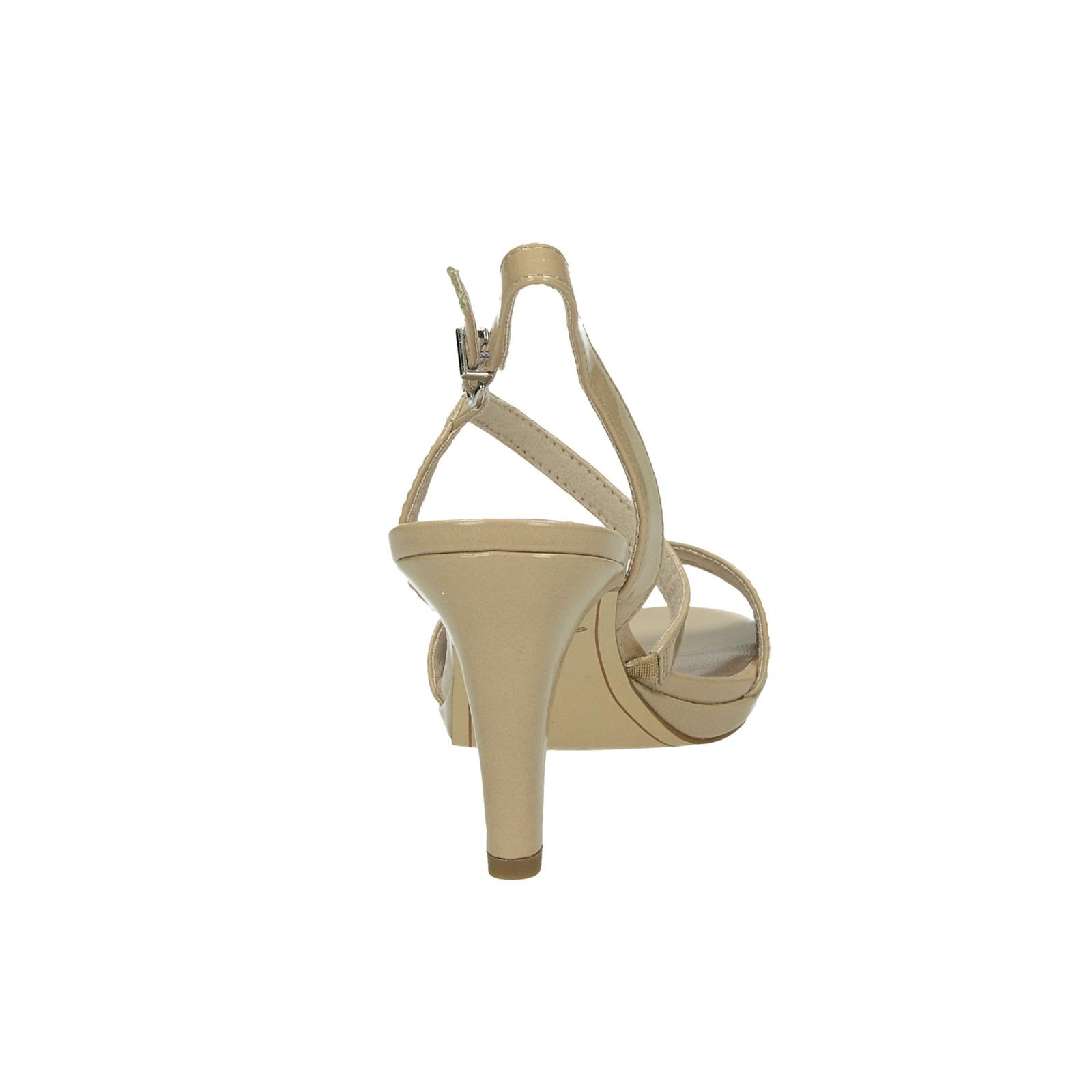 40301666ab21 ... Tamaris dámske štýlové lakované sandále na podpätku - béžové ...