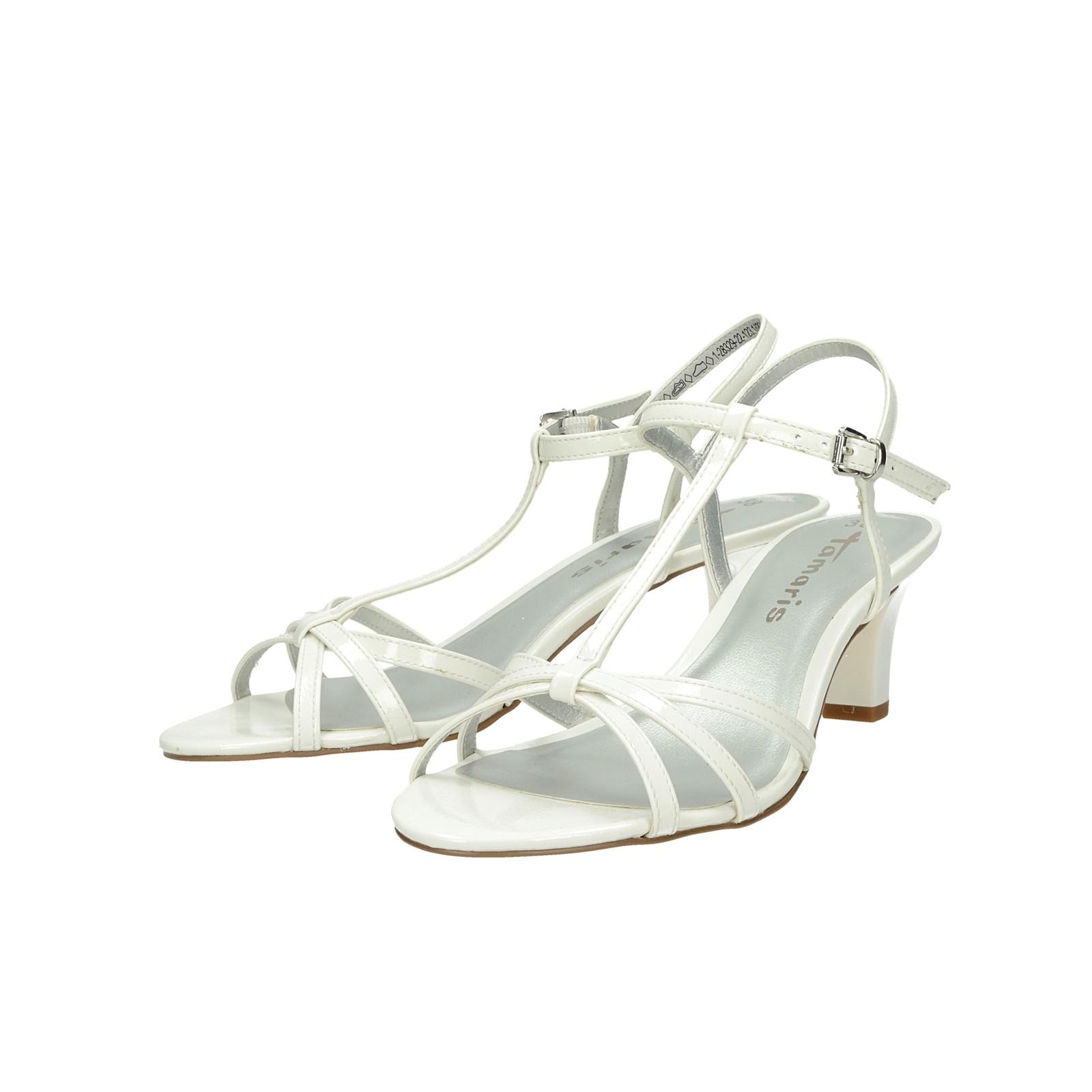 39f3c233ff82 Tamaris dámske štýlové sandále - biele ...