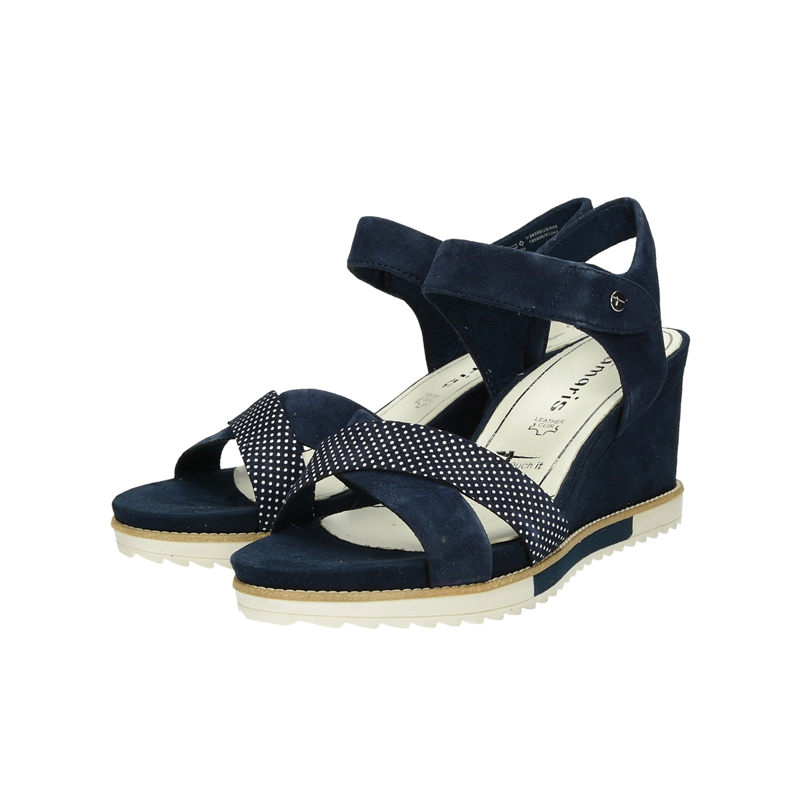 cb4a7f9eb3d5 Tamaris dámske semišové pohodlné sandále - tmavomodré ...