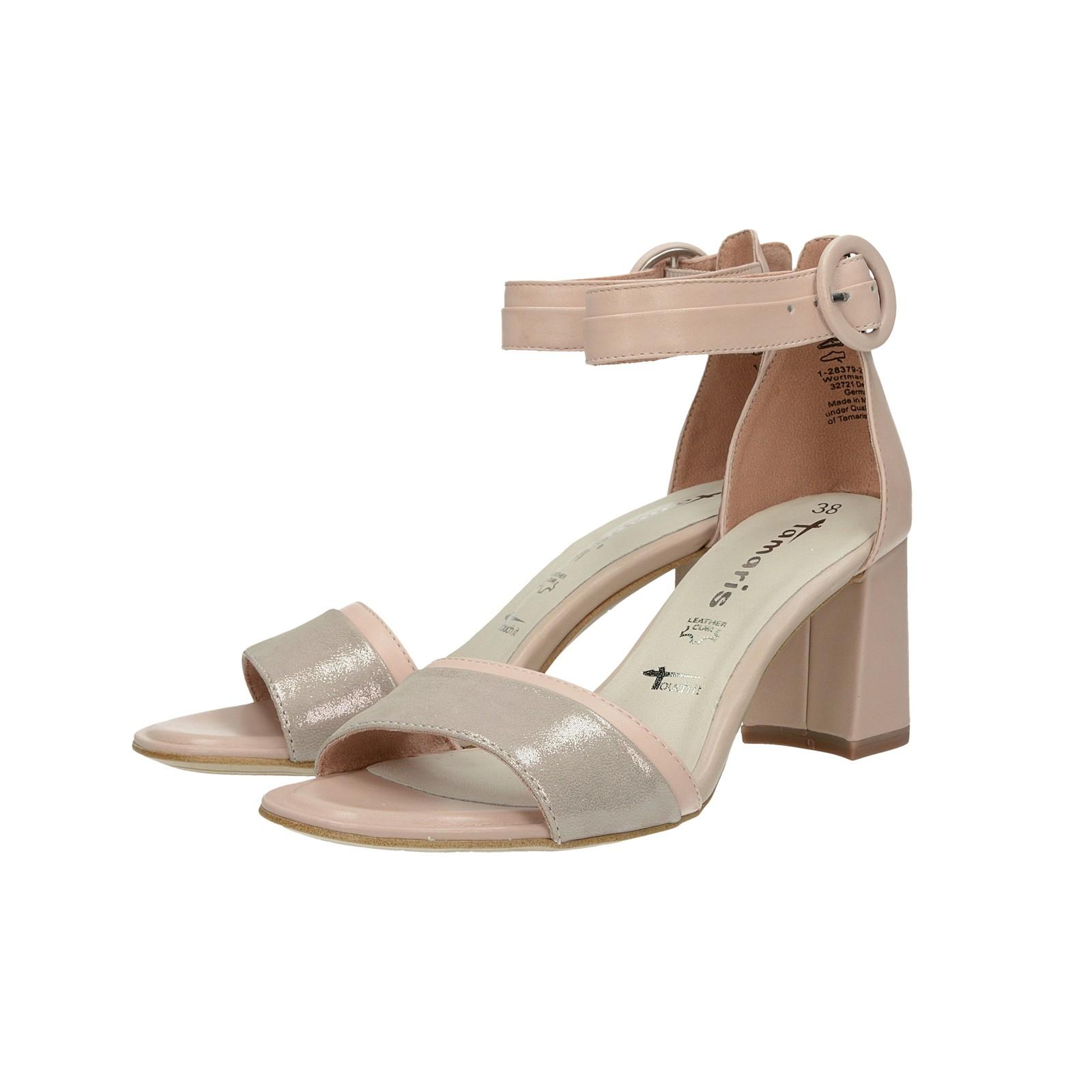 6a65f31eeb Tamaris dámske kožené sandále - ružové ...