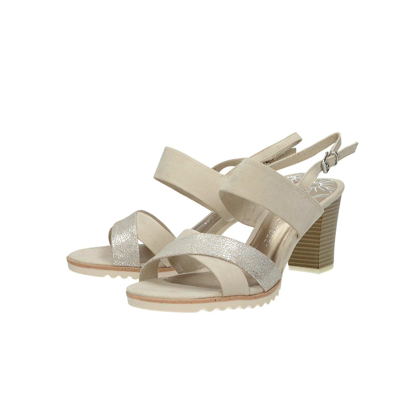 6ef560aad9 ... Marco Tozzi dámske sandále na podpätku - béžové ...
