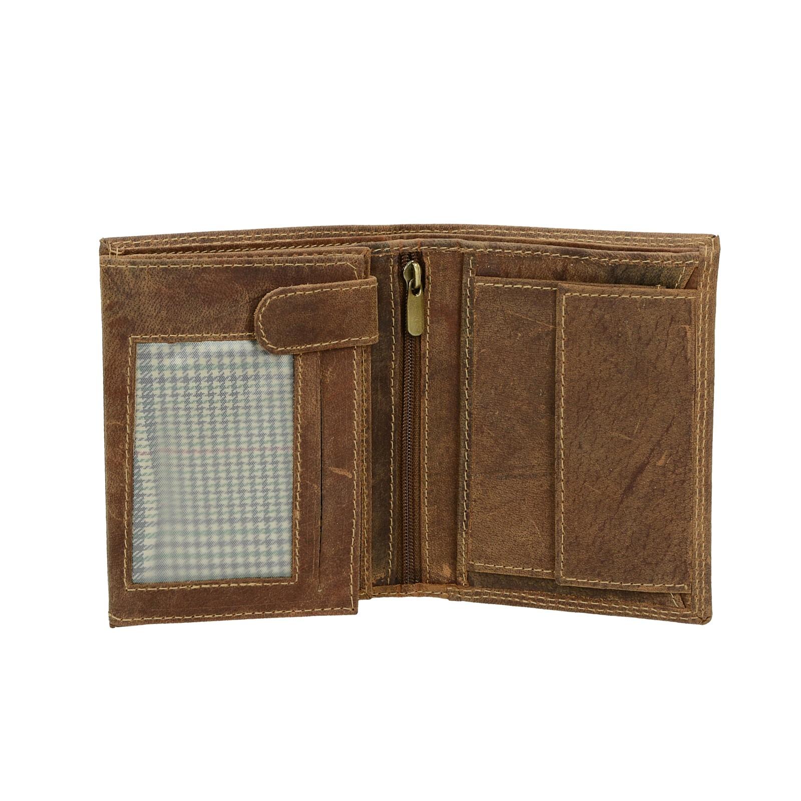 ... Mercucio pánska kožená peňaženka - hnedá ... 8be1b417d71