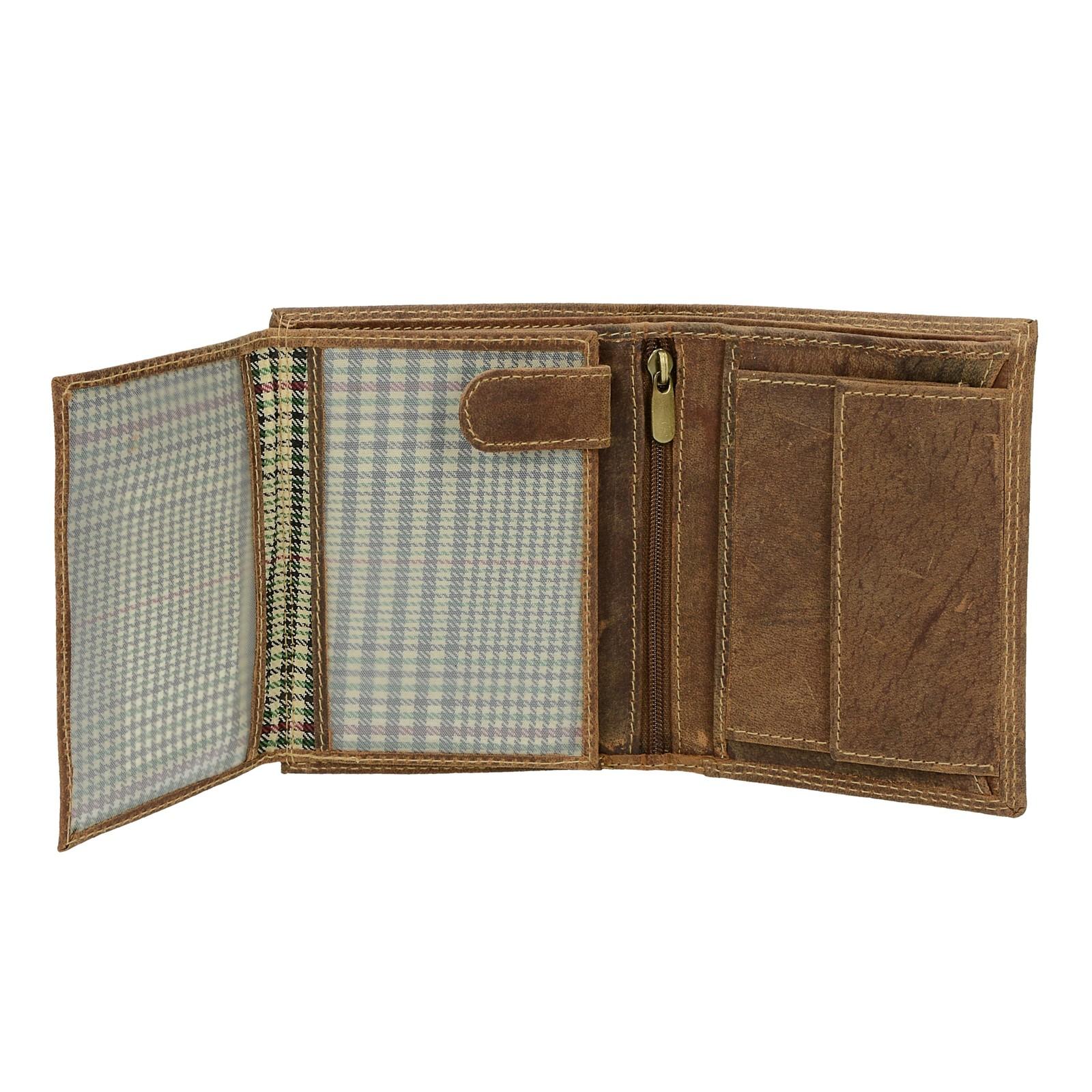 708467fb90 ... Mercucio pánska kožená peňaženka - hnedá ...