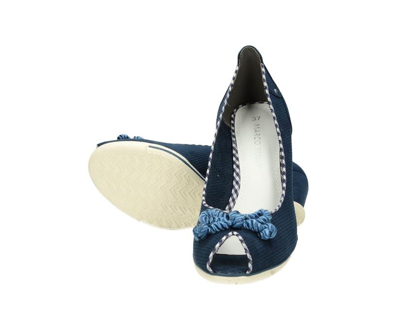 33816fe519 Marco Tozzi dámske lodičky - modré ...
