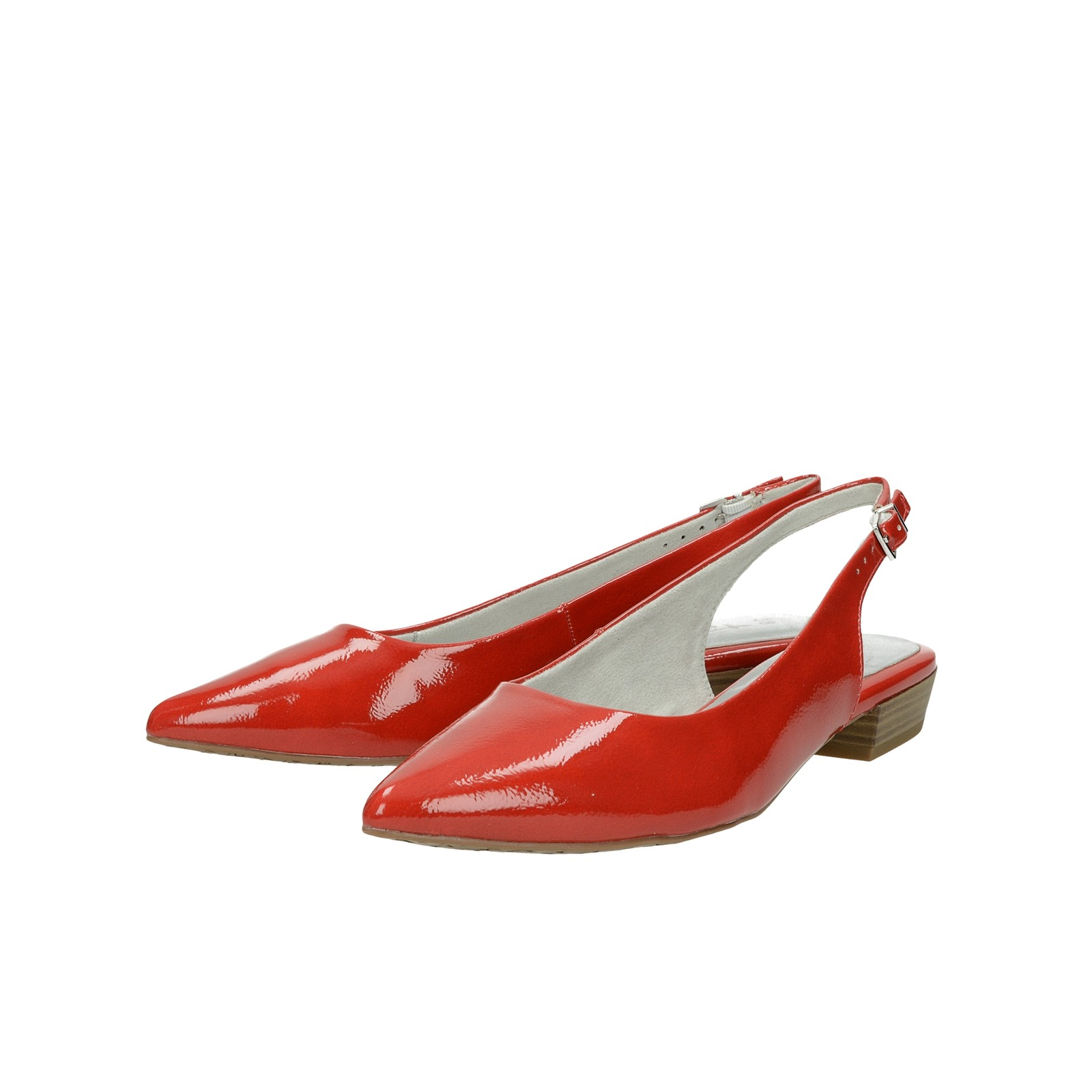 f5026a248e ... Tamaris dámske lakované sandále - červené ...