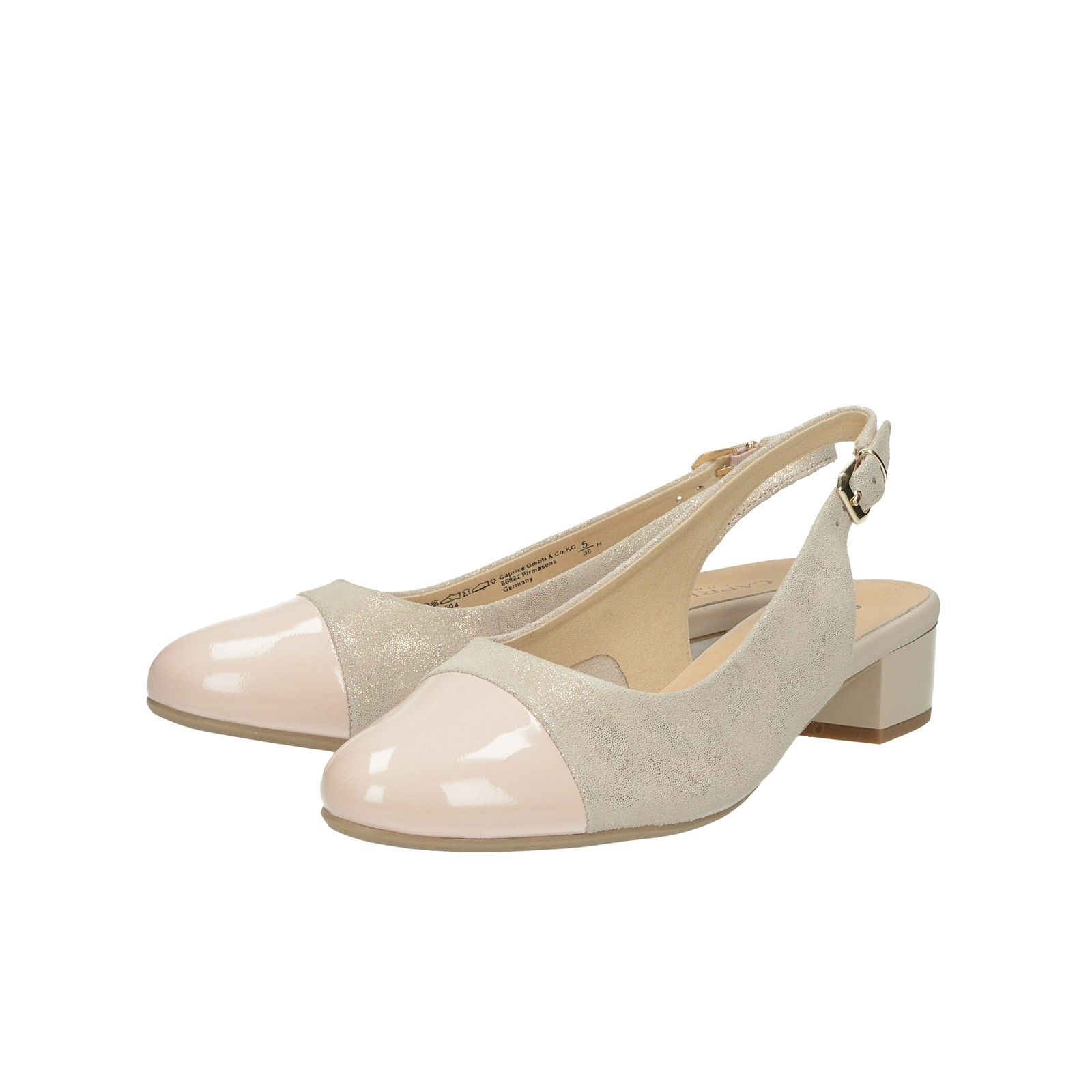 40a9f86ee Caprice dámske kožené sandále - ružové   2950222-ROSE www.robel.sk
