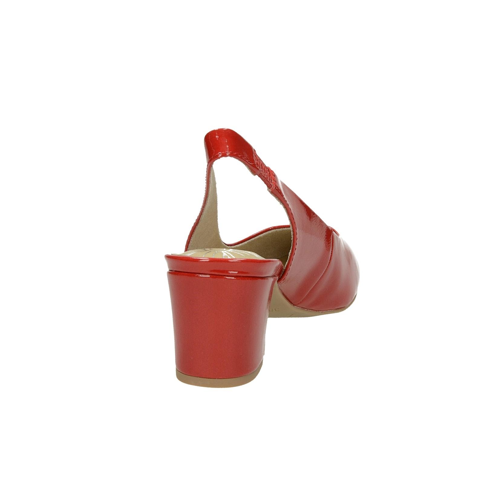 c709b09626 ... Marco Tozzi dámske lesklé lodičky s otvorenou pätou - červené ...