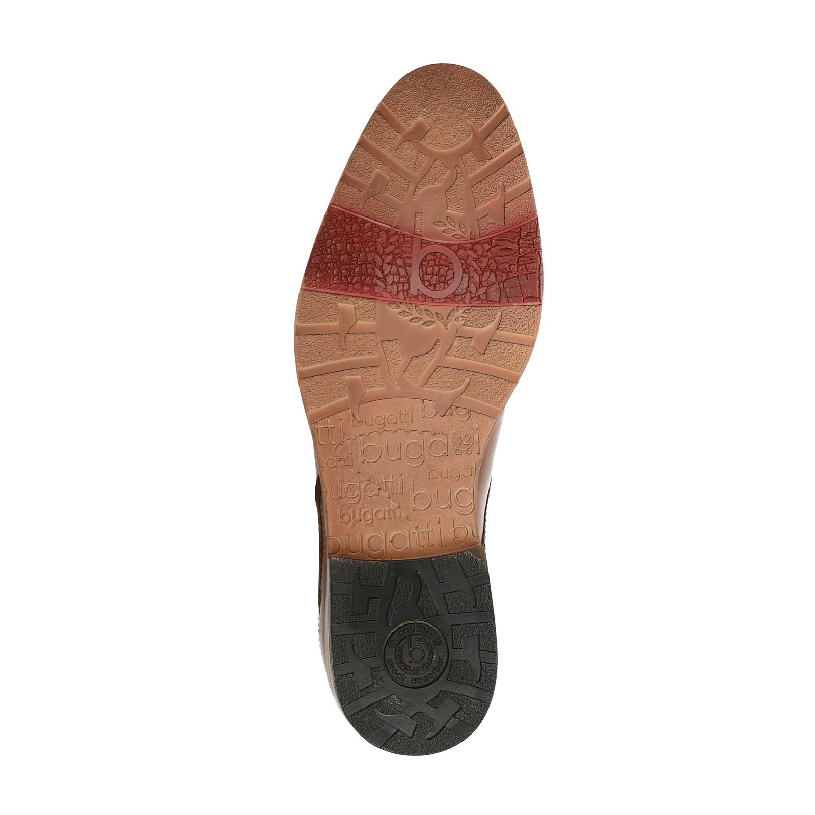 Bugatti pánske kožené spoločenské topánky - koňakové