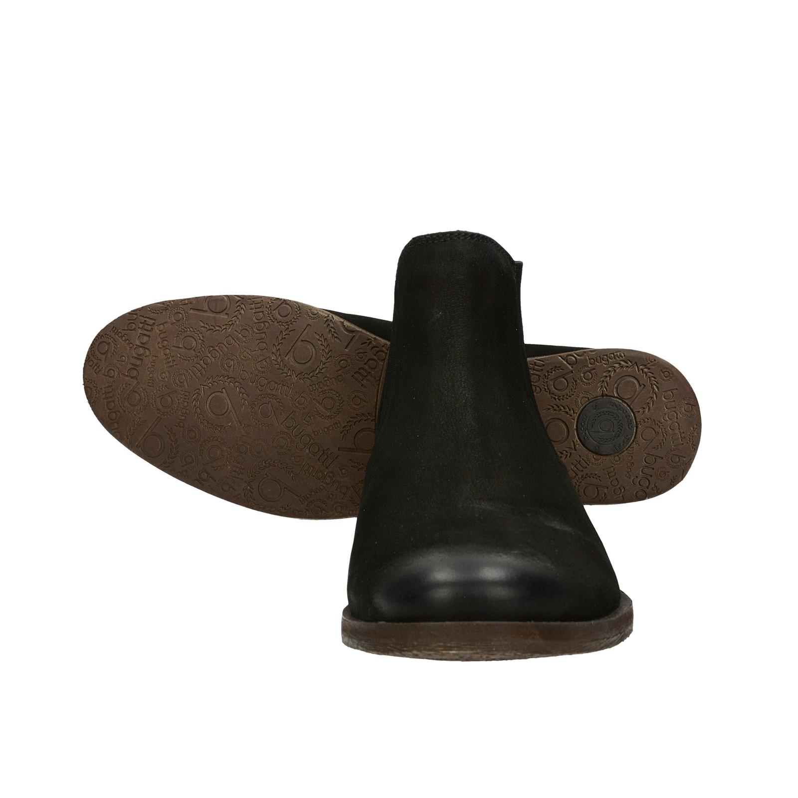 44c9c8710f1 ... Bugatti pánska štýlová členková obuv - čierna ...