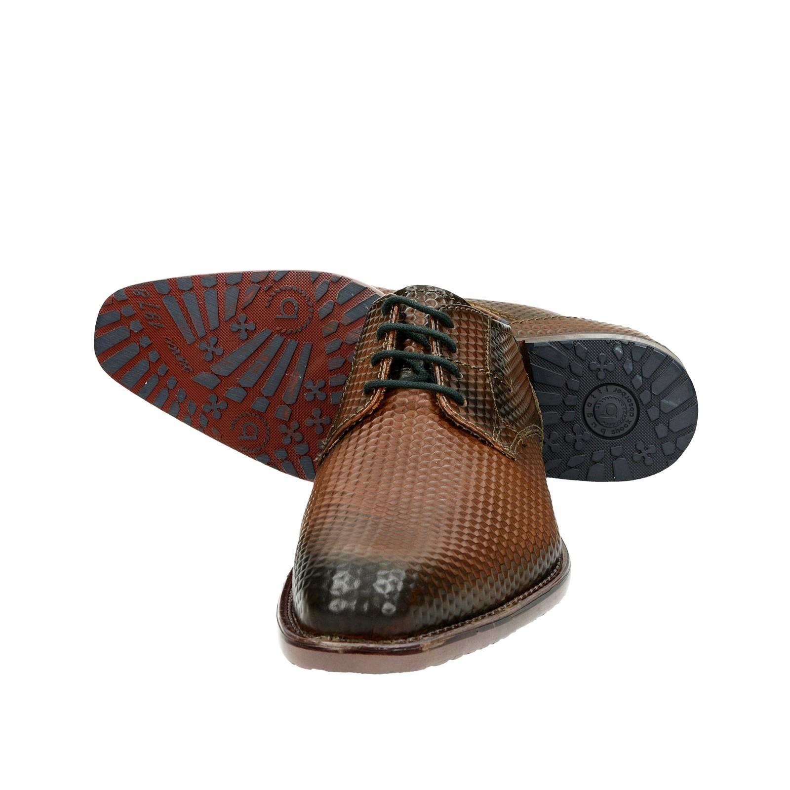 aaedc5a63279 ... Bugatti pánske spoločenské kožené topánky - hnedé ...