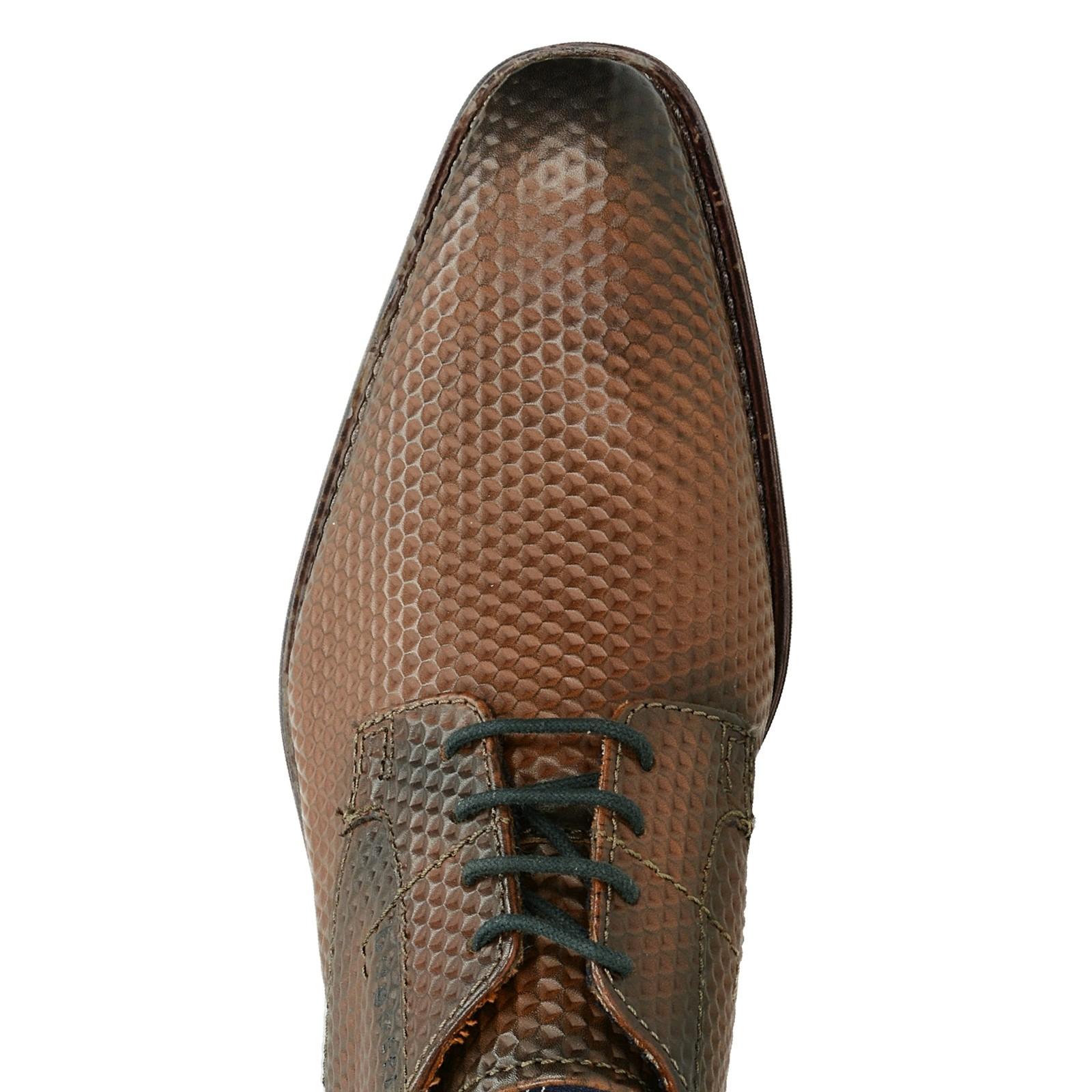 aa9d3f2ae135 Bugatti pánske spoločenské kožené topánky - hnedé ...