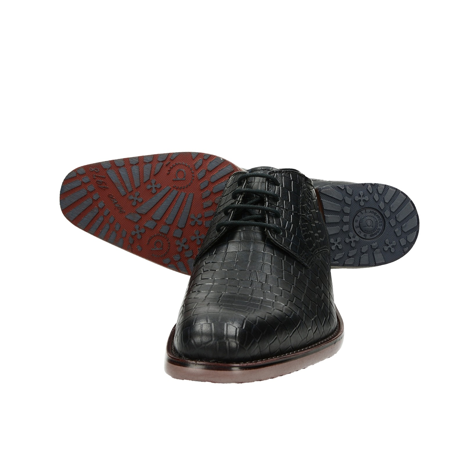 Bugatti pánske kožené štýlové poltopánky - čierne