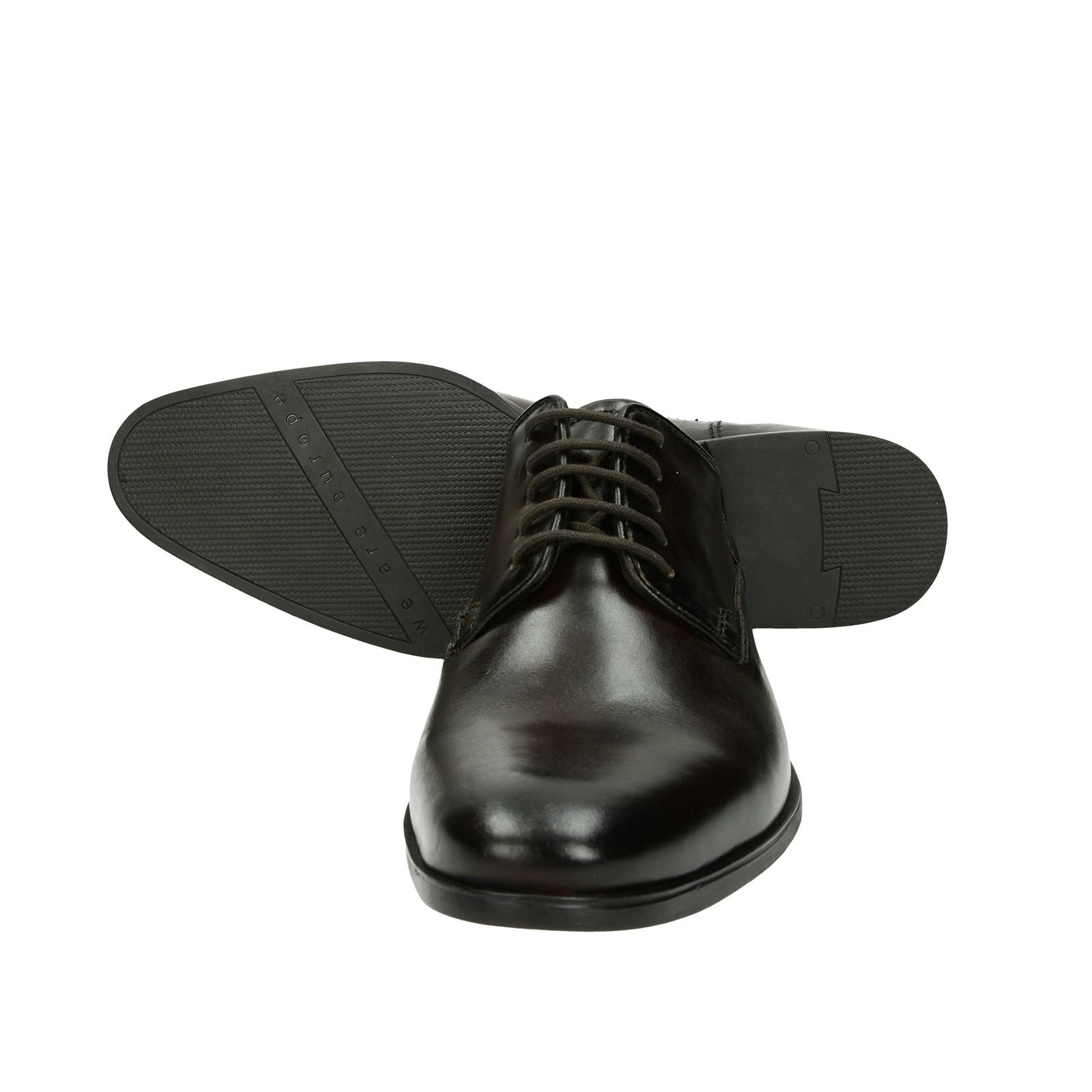 d790d776fd56 ... Bugatti pánske spoločenské kožené topánky - tmavohnedé ...