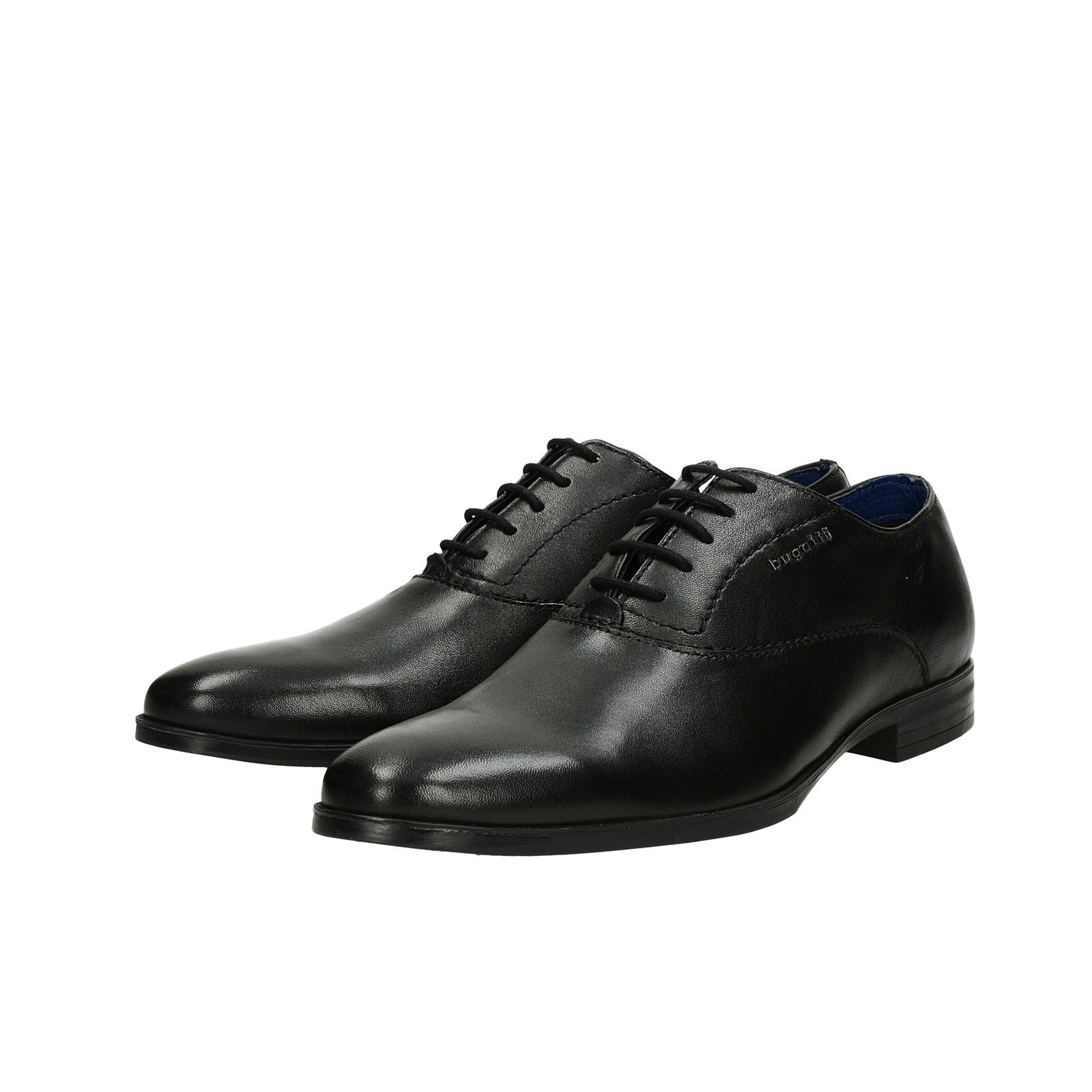 7fbd6a358889b Bugatti pánske kožené spoločenské topánky - čierne | 311-44603-3000 ...